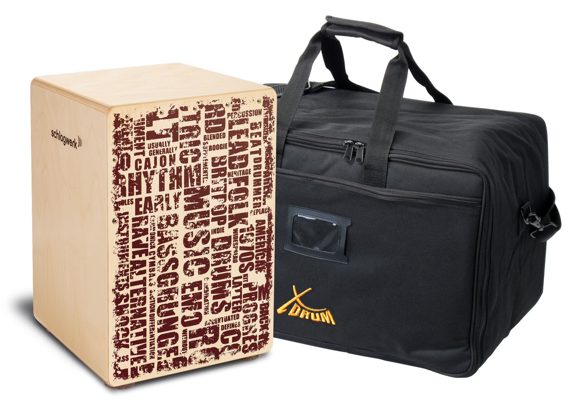 Schlagwerk CP119 Cajon X One Styles Medium Set inkl. Tasche