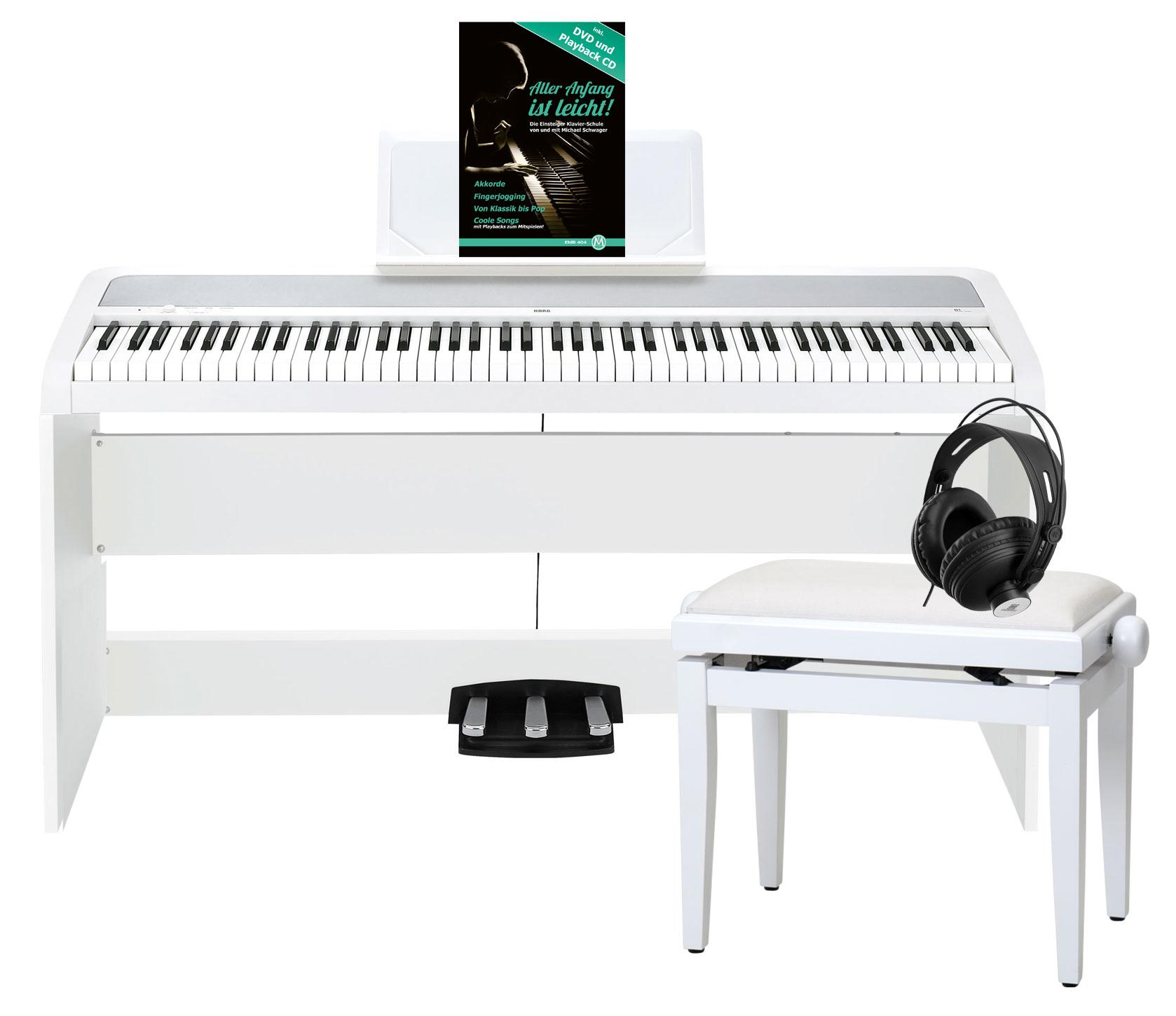 Korg B1SP WH Digitalpiano Weiß Deluxe Set