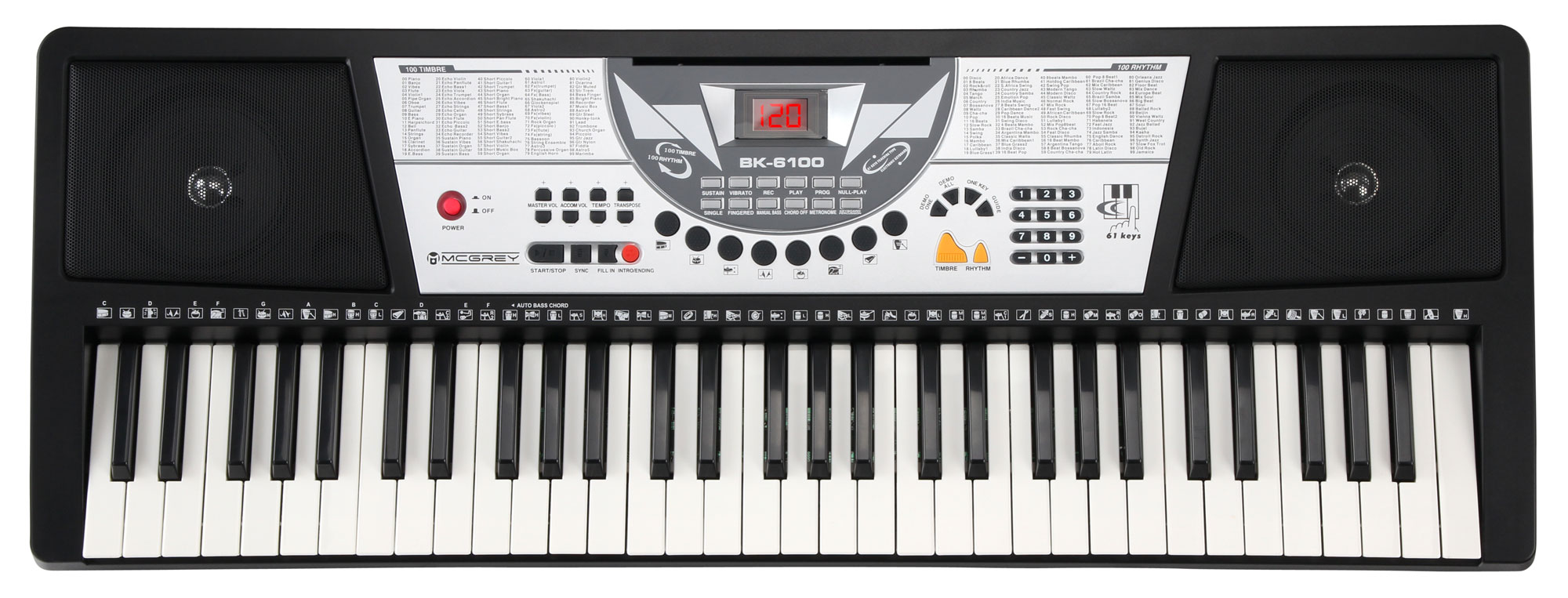 McGrey BK 6100 Keyboard mit 61 Tasten und Notenhalter