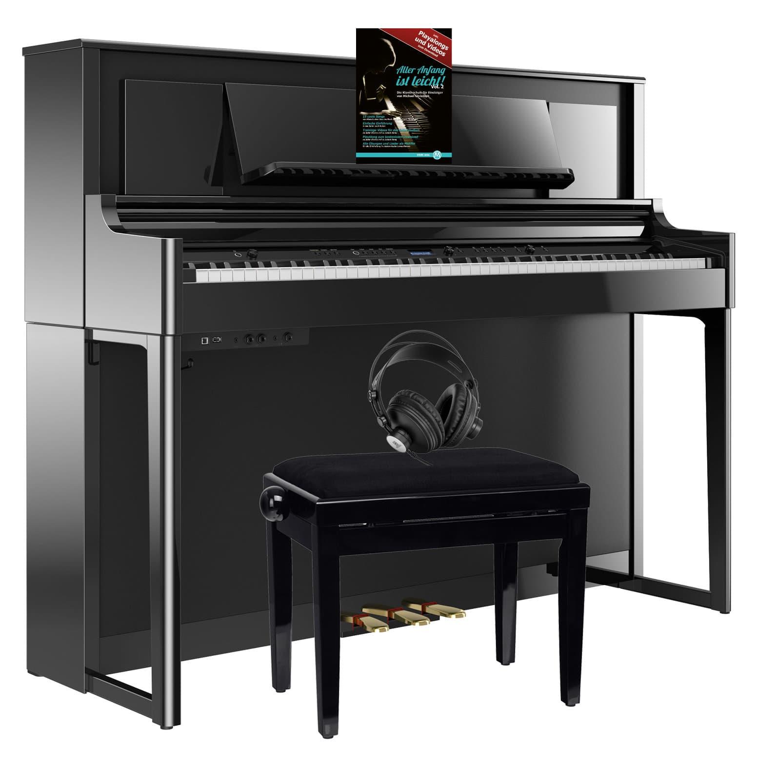 Roland LX706 PE Digitalpiano Set Schwarz Hochglanz
