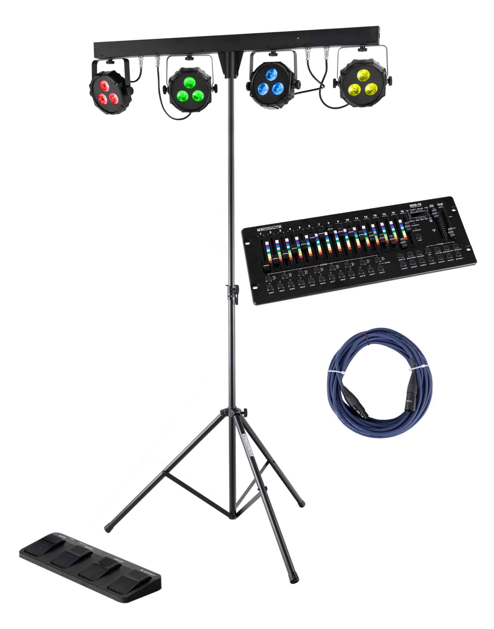 Lichtsets - Showlite LB 427 LED Komplettanlage Set mit Hybrid DMX Controller - Onlineshop Musikhaus Kirstein
