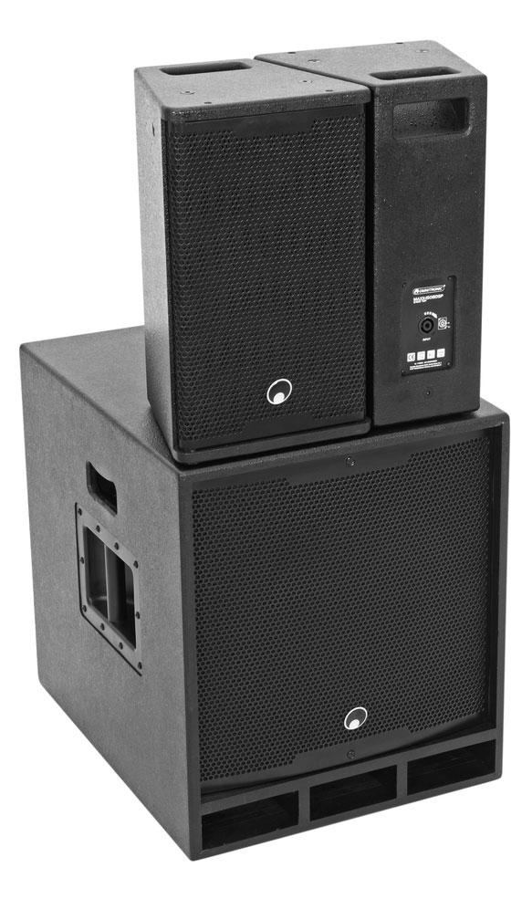 Boxenkomplettanlagen - Omnitronic MAXX 1508DSP 2.1 Aktiv System - Onlineshop Musikhaus Kirstein