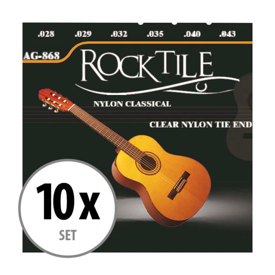 Rocktile Saiten für Konzertgitarre Super Light 10er Pack