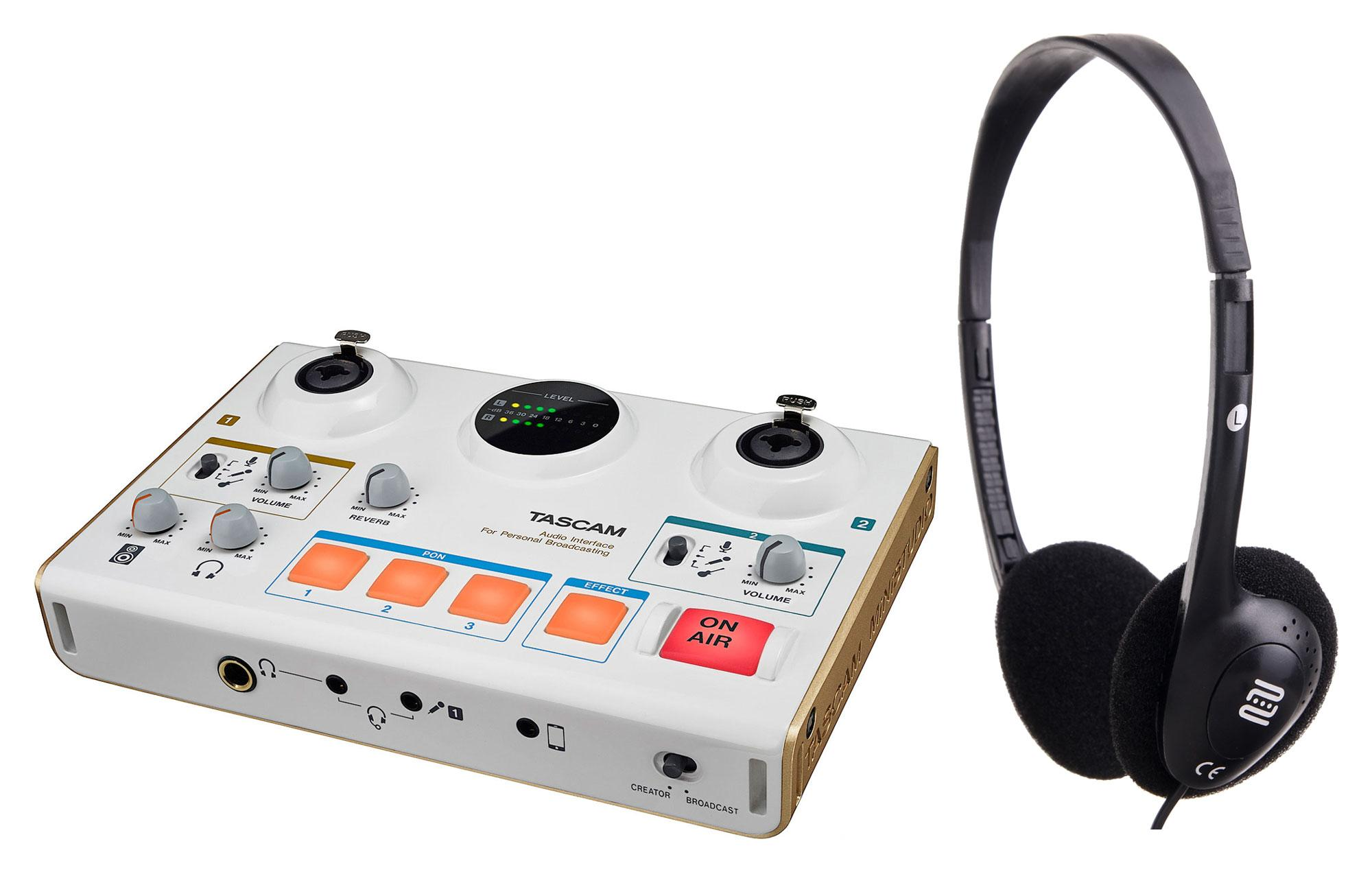 Tascam US 42 MiNiSTUDIO Creator Interface SET mit Kopfhörer