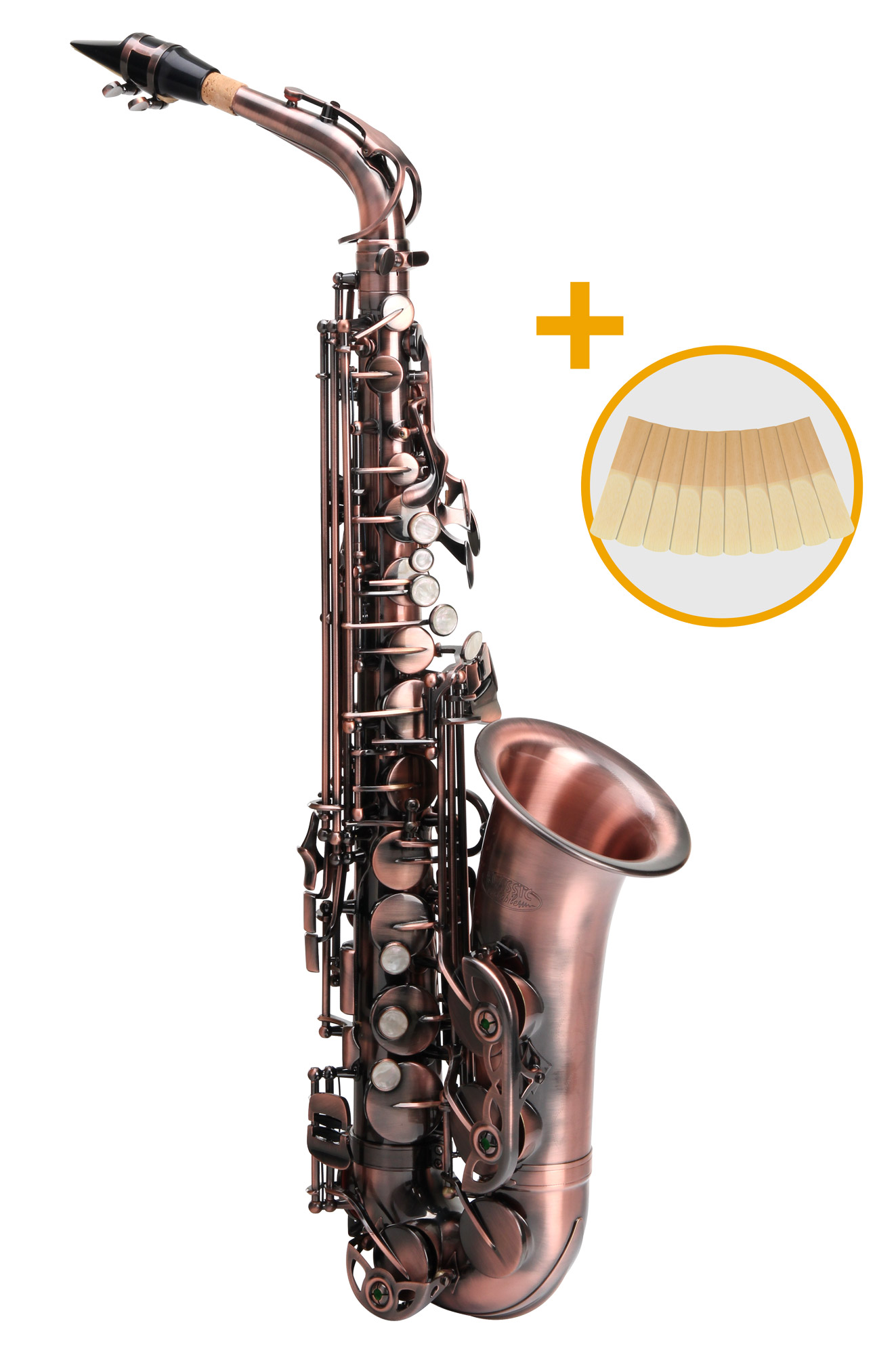 Saxophone - Classic Cantabile Winds AS 450 Antique Red Es Altsaxophon Set - Onlineshop Musikhaus Kirstein