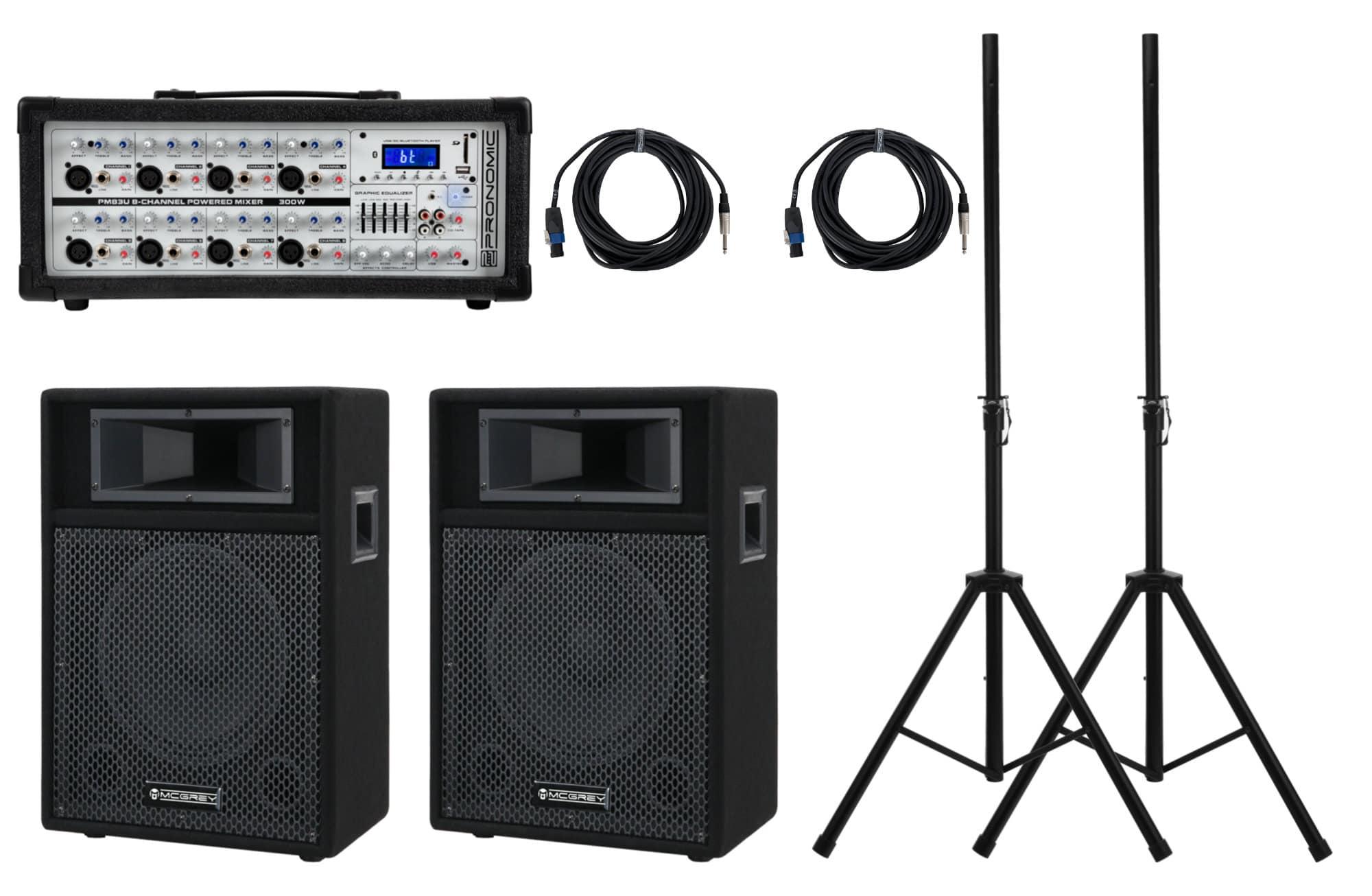 Boxenkomplettanlagen - Pronomic StagePower PM83 110 PA Set - Onlineshop Musikhaus Kirstein