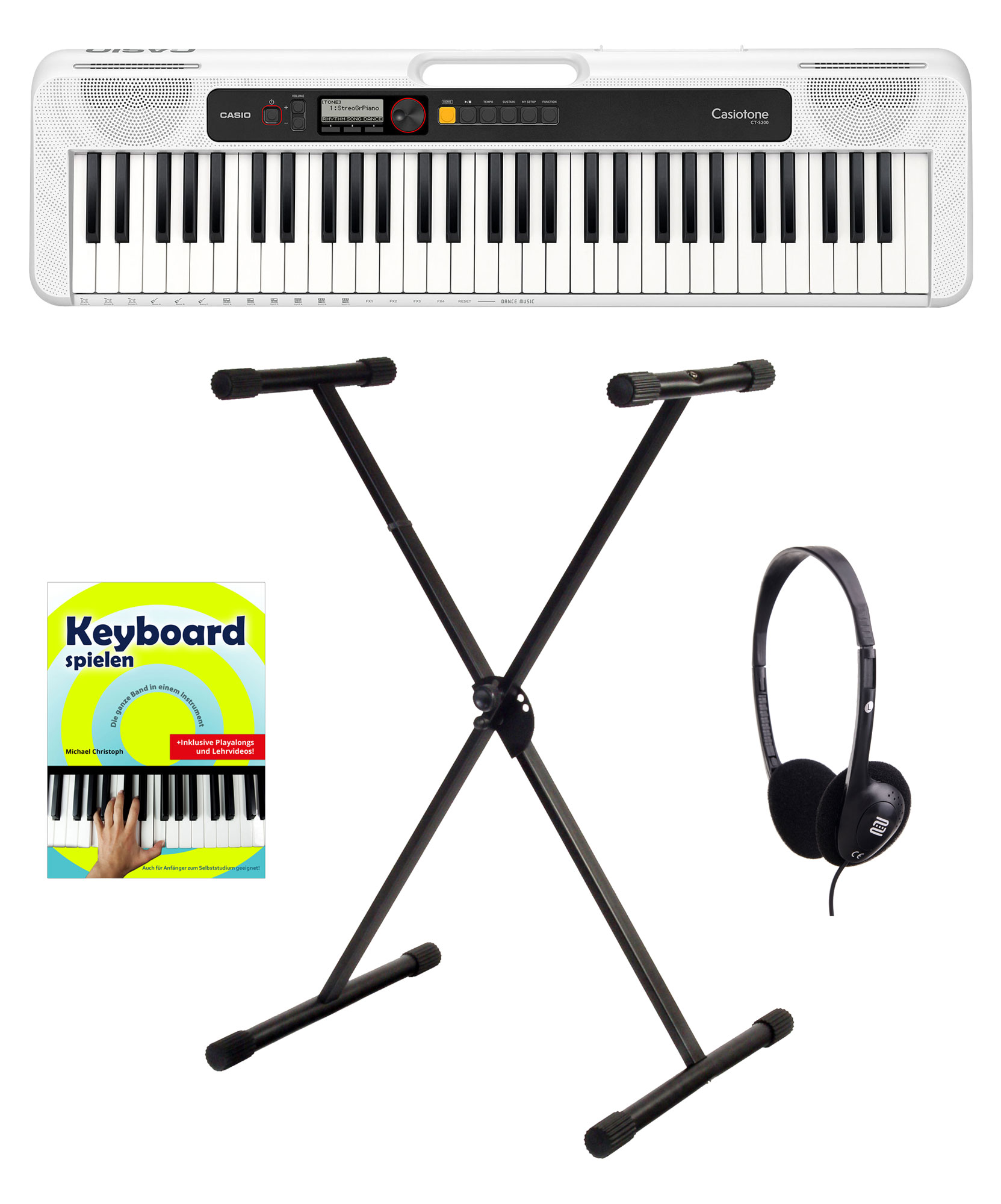 Homekeyboards - Casio CT S200 WE Keyboard Starter Set Weiß - Onlineshop Musikhaus Kirstein