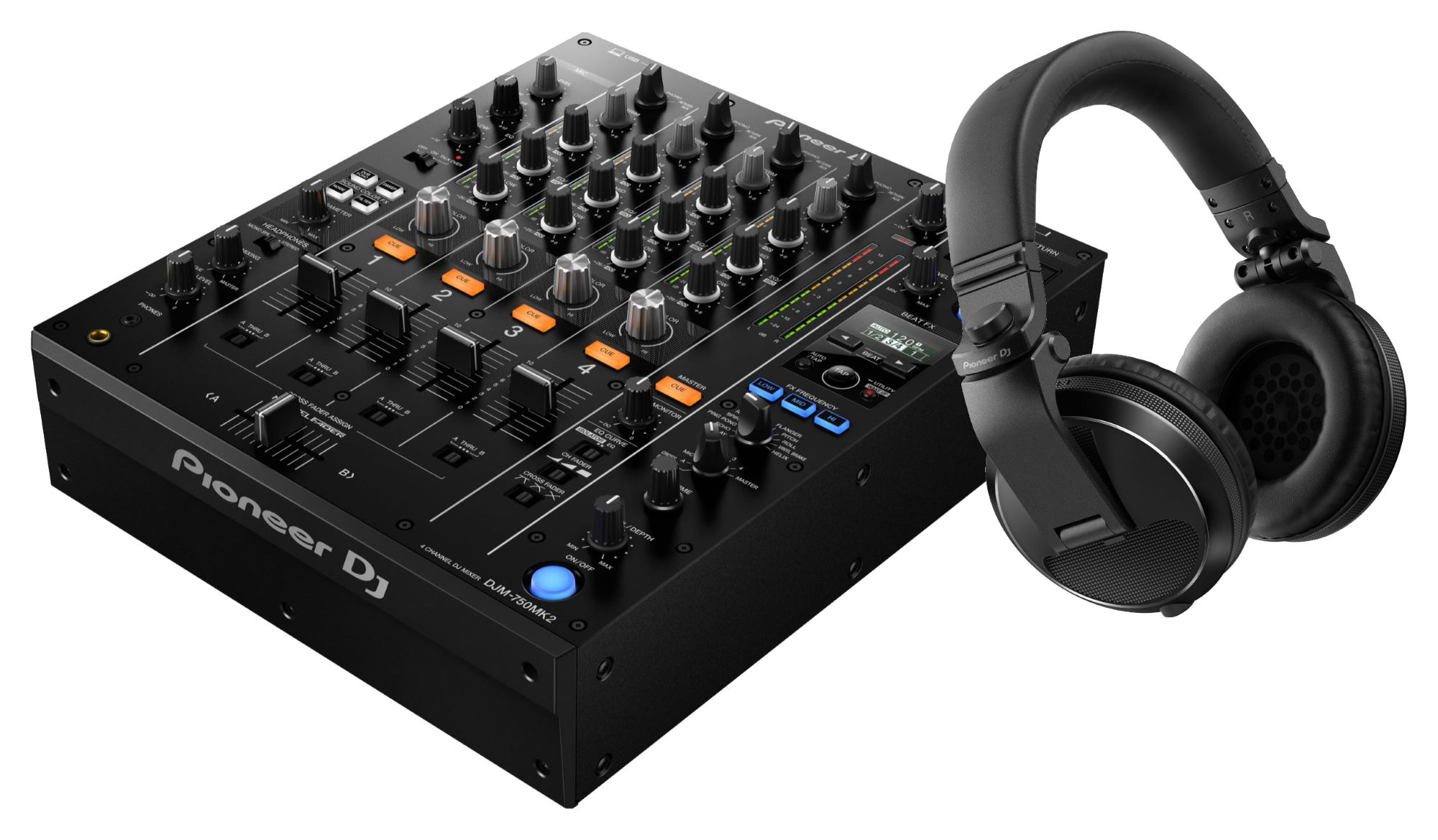 Djmixer - Pioneer DJ DJM 750MK2 HDJ X5 K Schwarz SET - Onlineshop Musikhaus Kirstein