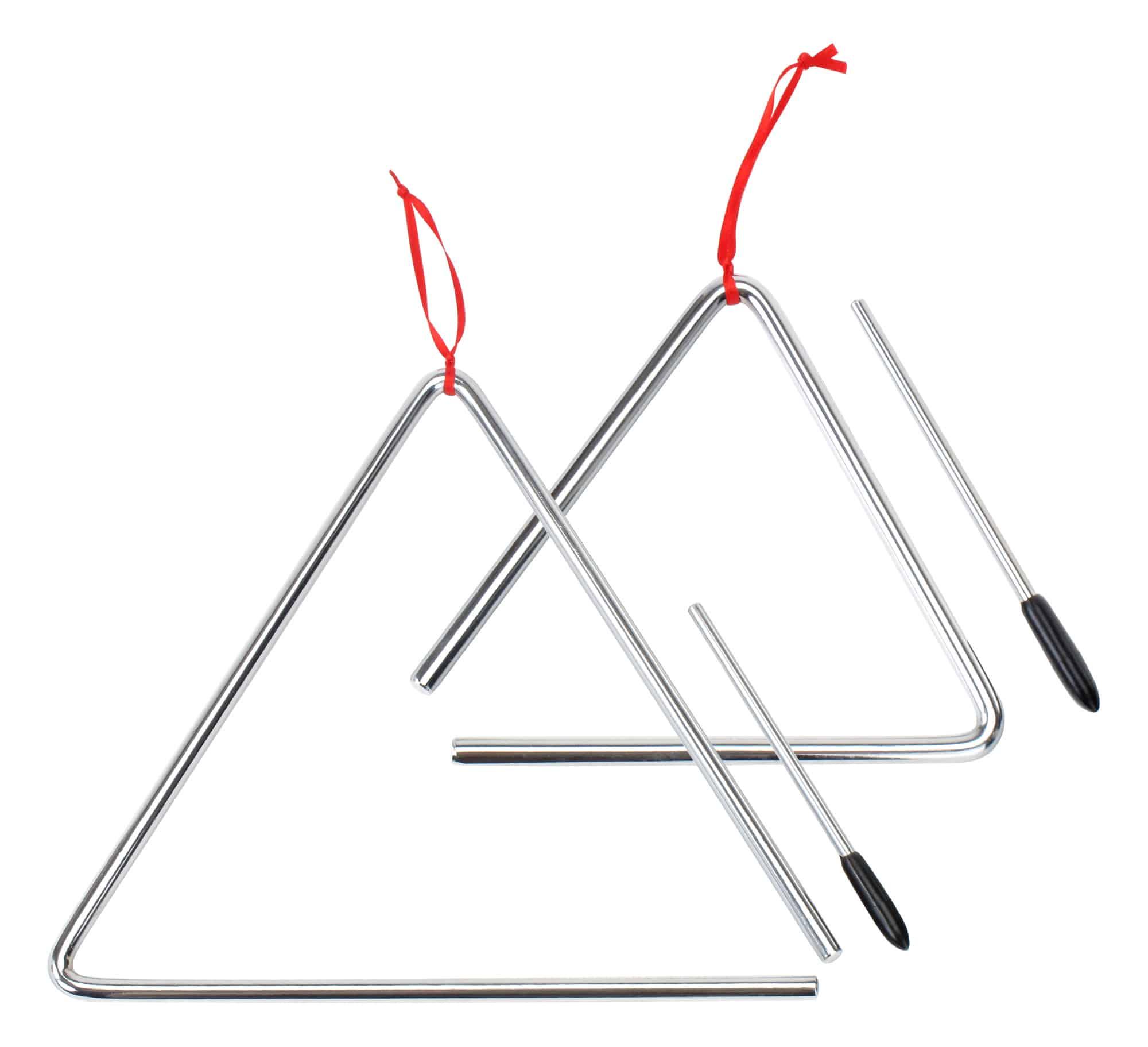 XDrum Triangel Starter SETl klein 15cm groß 25cm, inkl. Schlägel