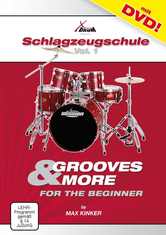 Drumslernen - Max Kinker Grooves More for the Beginner Schlagzeugschule DVD - Onlineshop Musikhaus Kirstein
