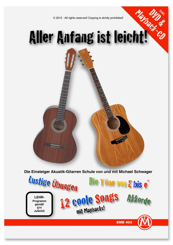 Gitarrelernen - Michael Schwager, Aller Anfang ist leicht, Gitarrenschule DVD und Playback CD (Mängelexemplar) - Onlineshop Musikhaus Kirstein