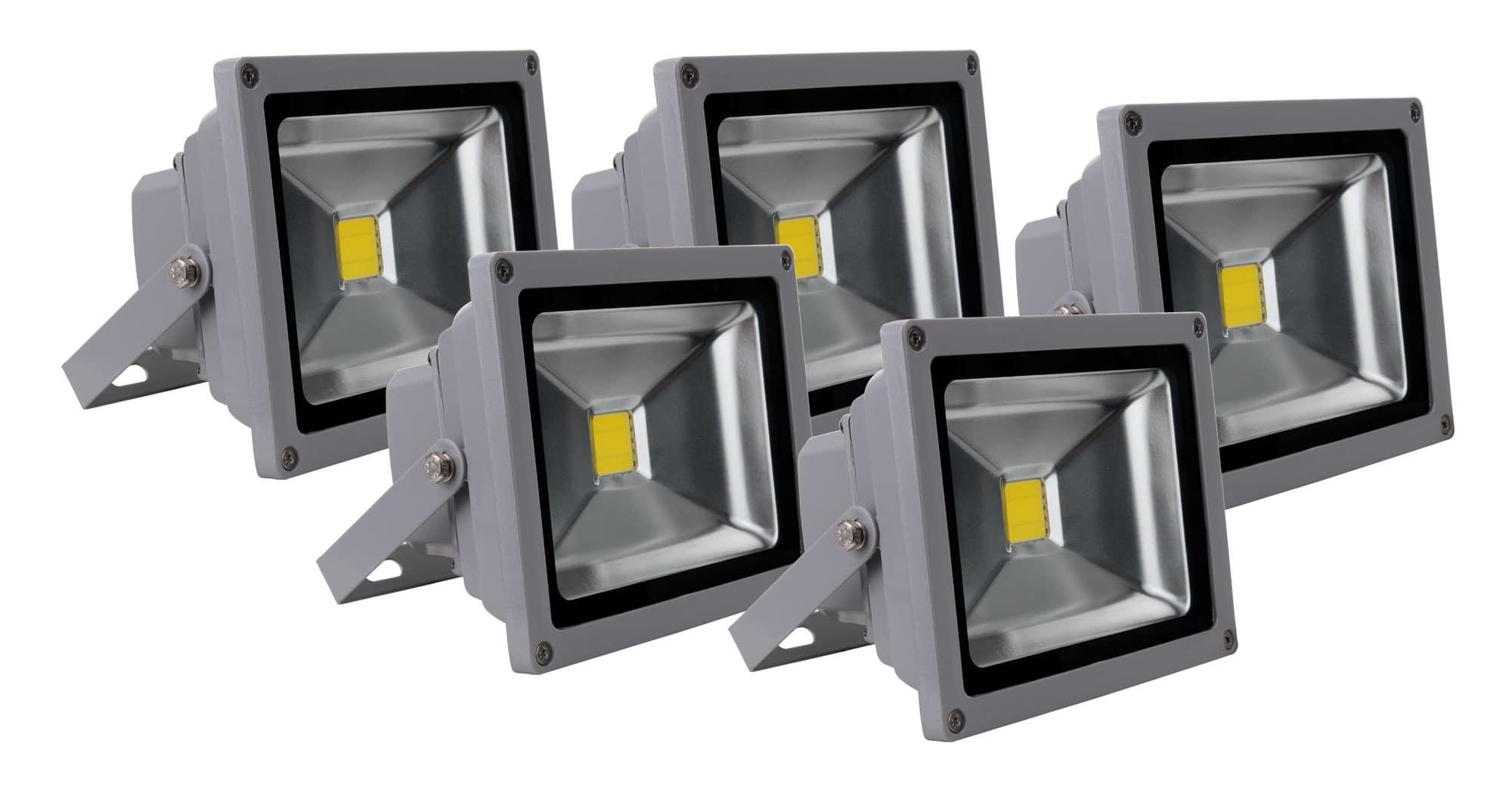 showlite fl 2020 led fluter ip65 20 watt 2200 lumen 5er set. Black Bedroom Furniture Sets. Home Design Ideas