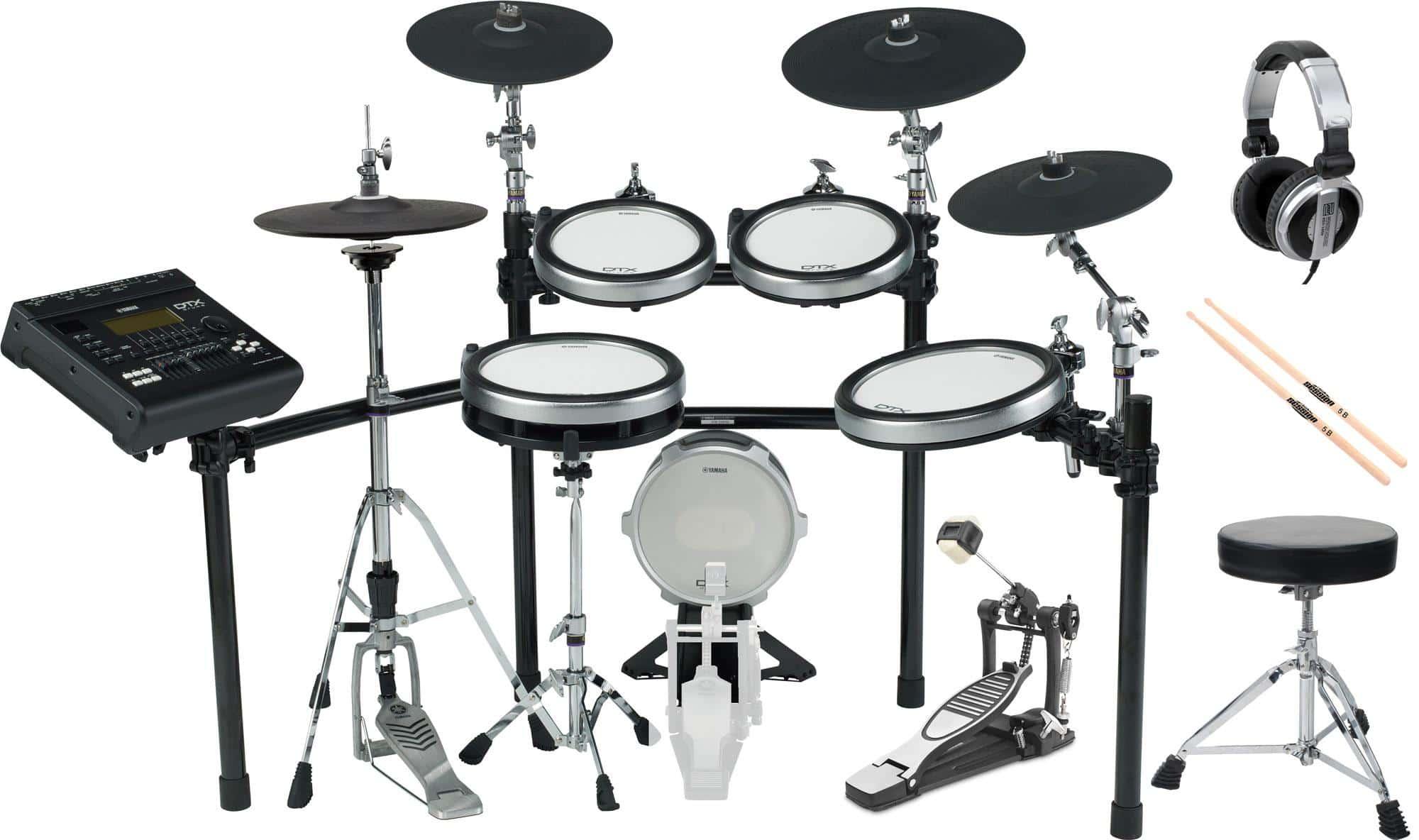 Yamaha DTX920K E Drum Kit SET 1 mit Hocker, Sticks und Kopfhörer