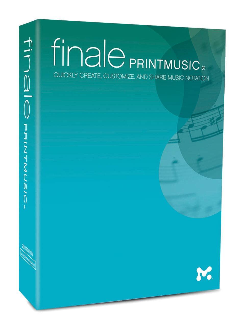 Studiosoftware - Makemusic Finale PrintMusic 2014 D - Onlineshop Musikhaus Kirstein
