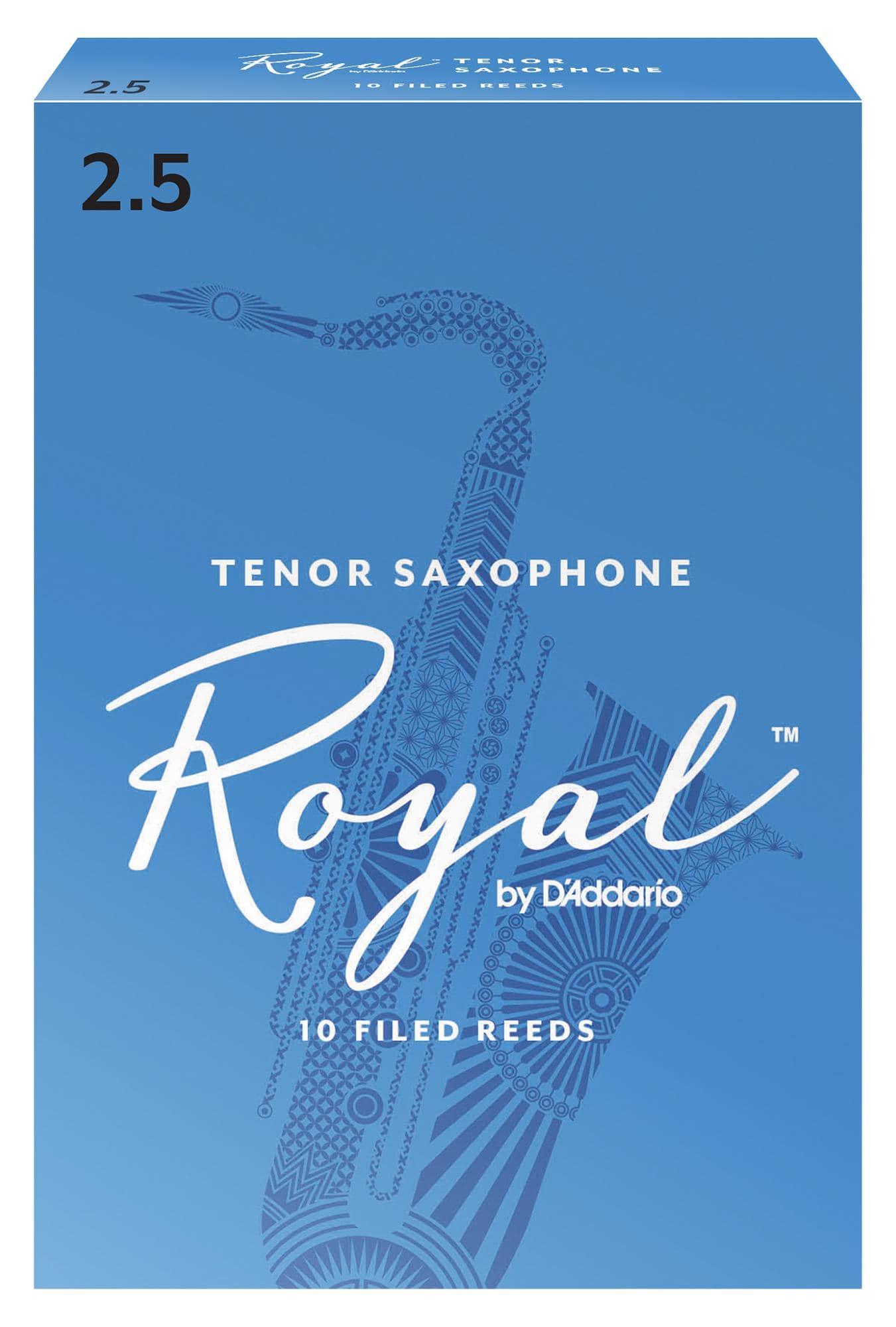 Blaeserzubehoer - D'Addario Royal 10er Pack Tenorsaxophon Blätter Stärke 2,5 - Onlineshop Musikhaus Kirstein