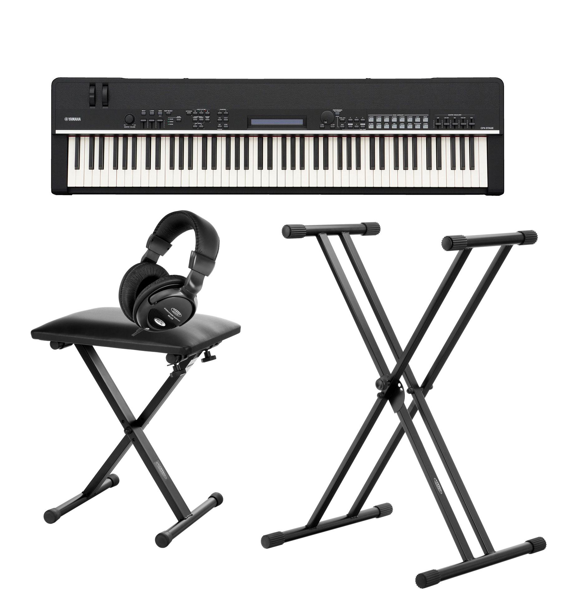 Yamaha CP4 STAGE Stagepiano SET mit Pedal, Ständer, Bank und Kopfhörer