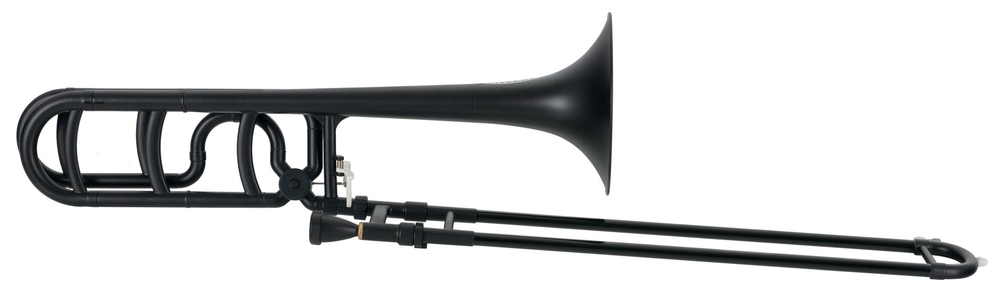 Posaunen - Classic Cantabile MardiBrass Kunststoff Bb|F Quartposaune matt schwarz - Onlineshop Musikhaus Kirstein