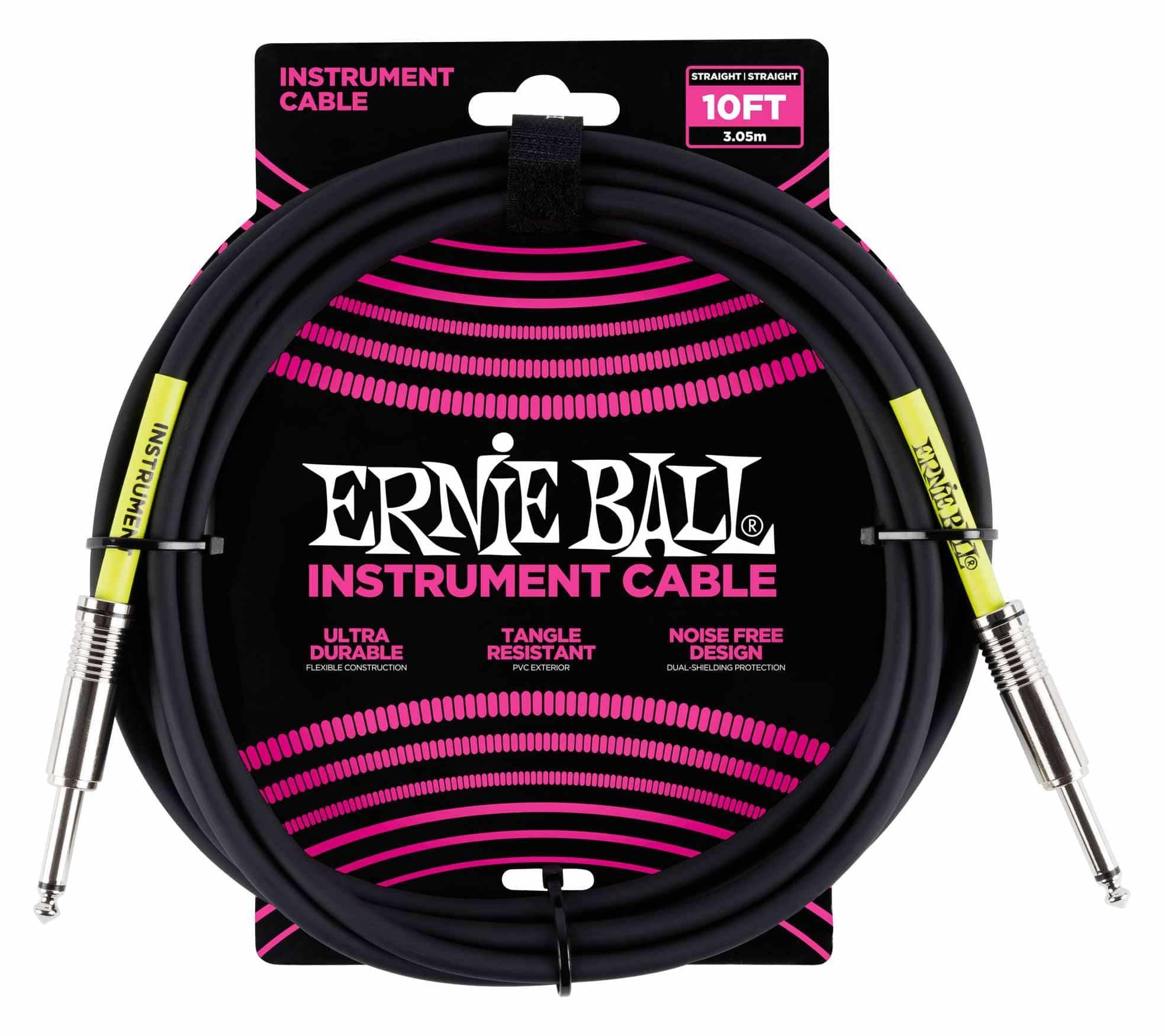 Ernie Ball 6048 Instrumentenkabel 3,05 m Schwarz