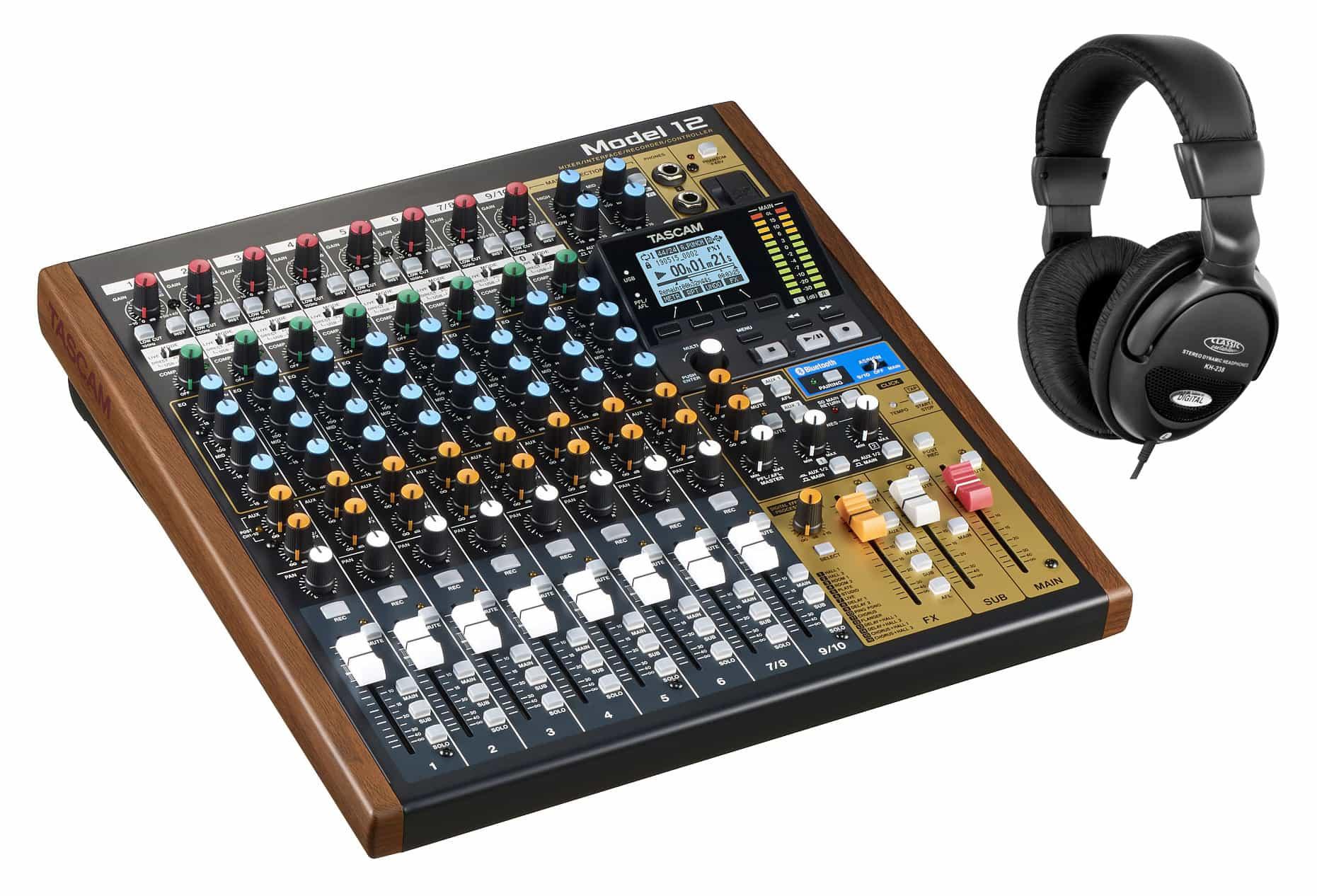 Mischpulte - Tascam Model 12 Analogmischpult Set - Onlineshop Musikhaus Kirstein