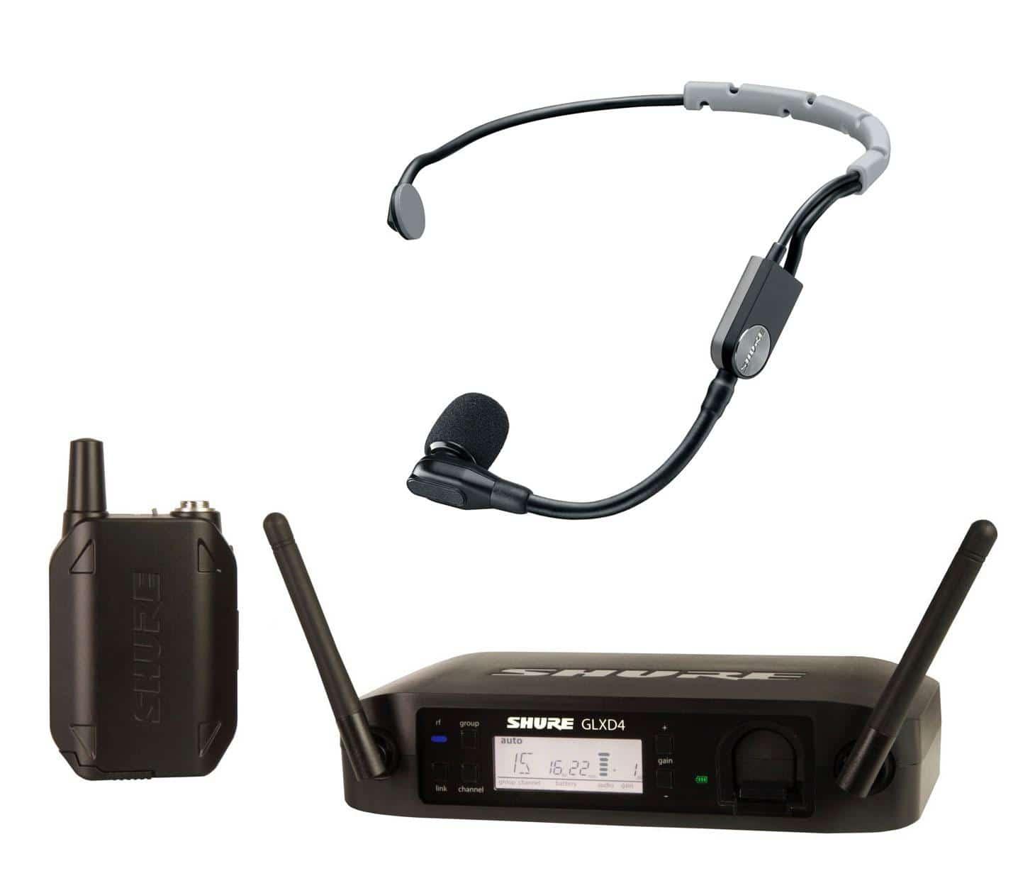 Drahtlossysteme - Shure GLXD14|SM35 Headset Funksystem - Onlineshop Musikhaus Kirstein