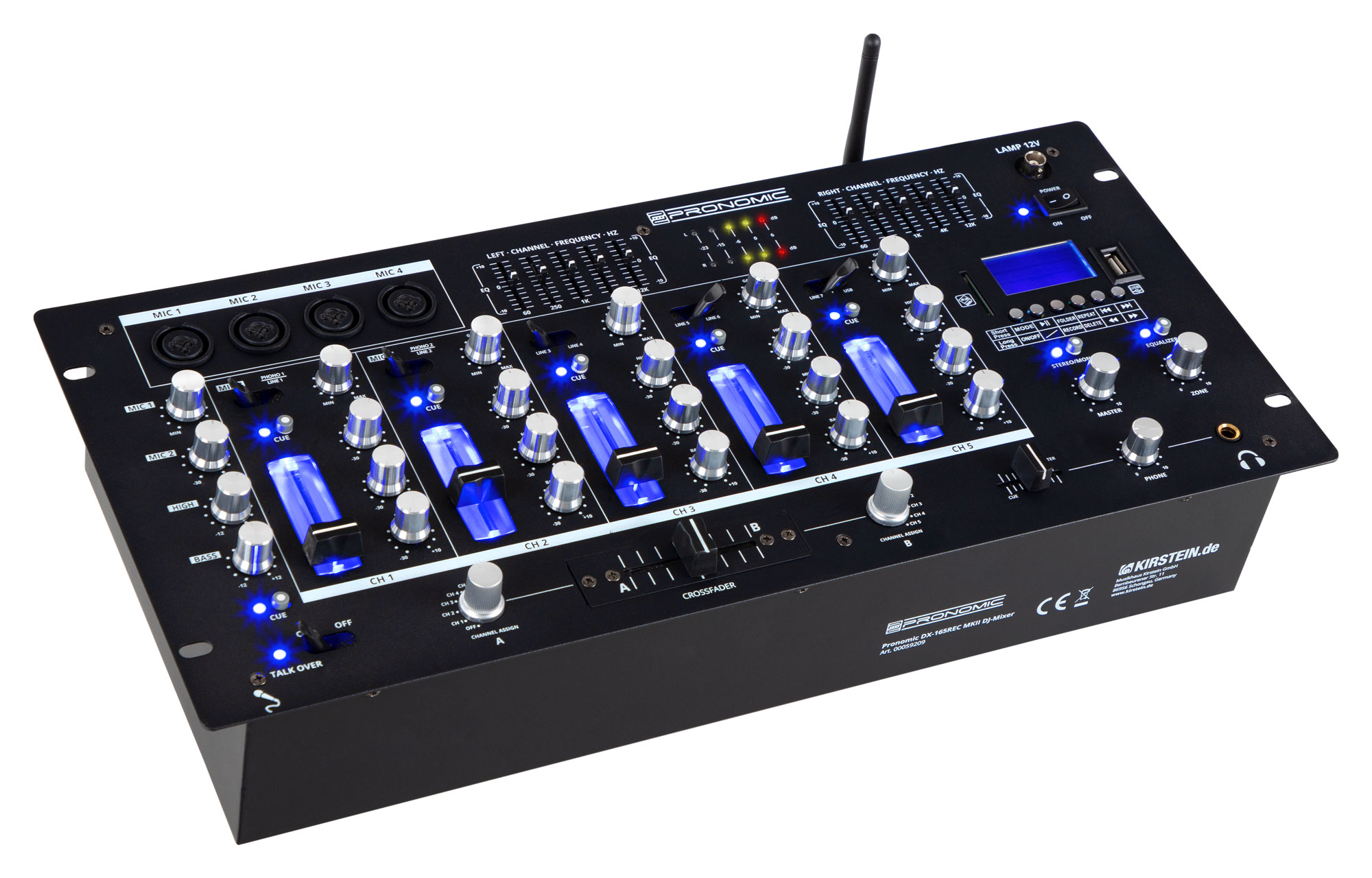 Djmixer - Pronomic DX 165REC MKII DJ Mixer - Onlineshop Musikhaus Kirstein