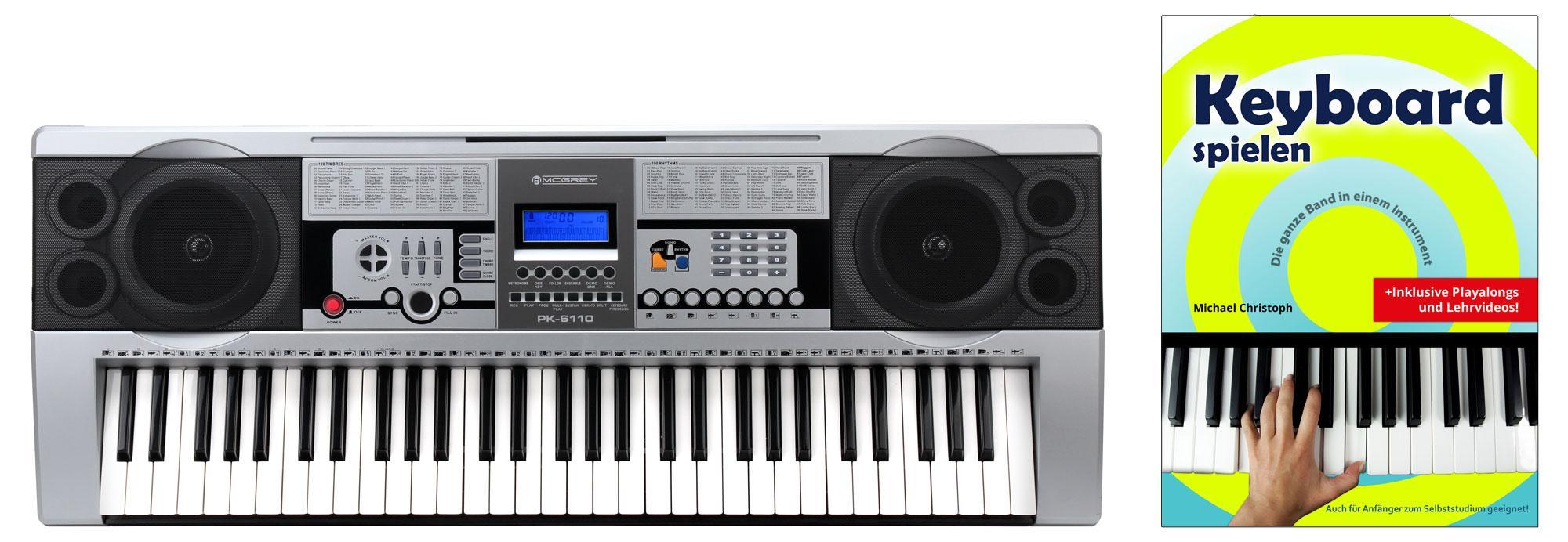 McGrey PK 6110 Keyboard Set mit 61 Tasten, Keyboardschule und Notenhalter