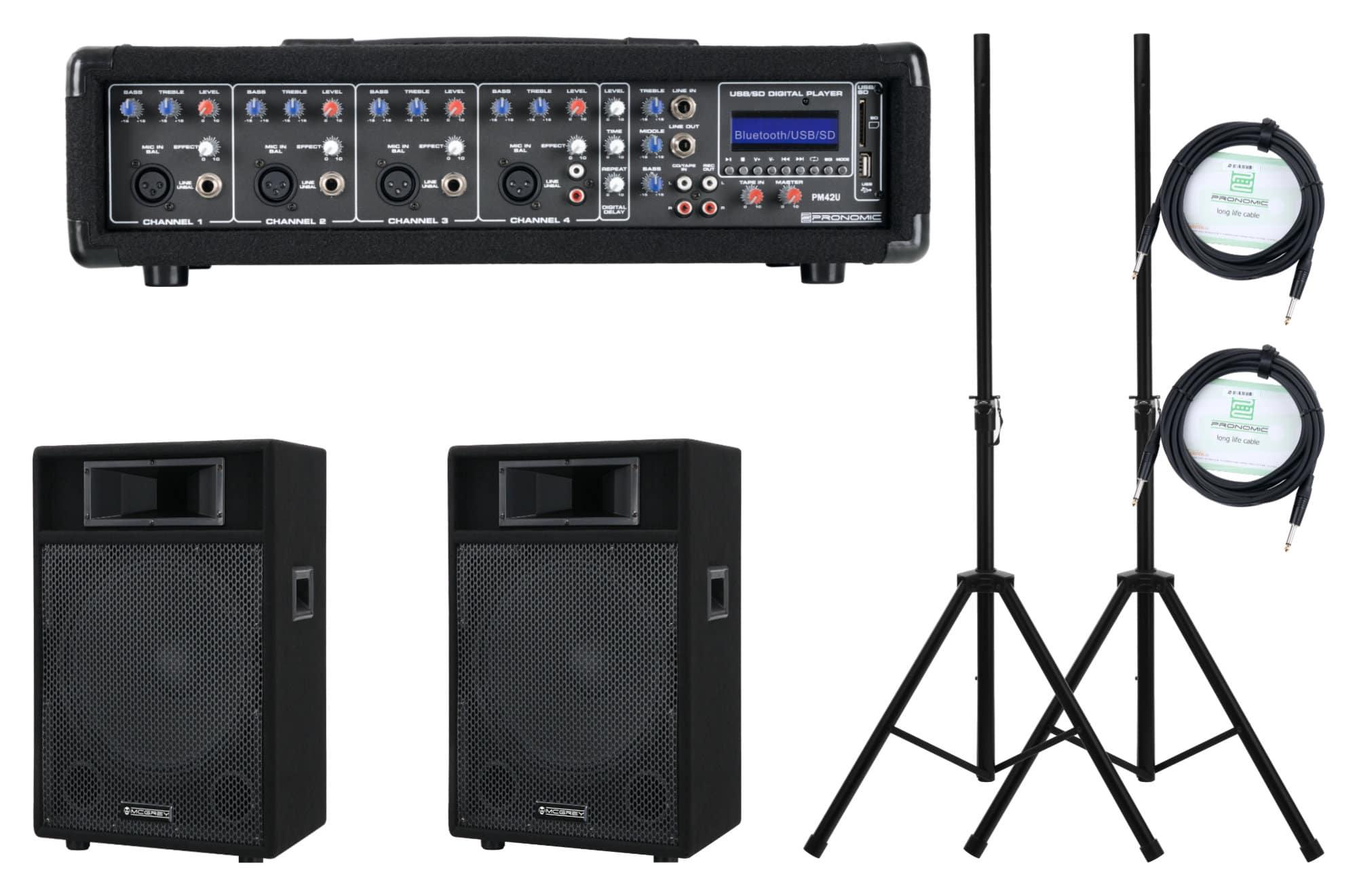 Boxenkomplettanlagen - Pronomic PM42 110 StagePower Set Aktivanlage - Onlineshop Musikhaus Kirstein