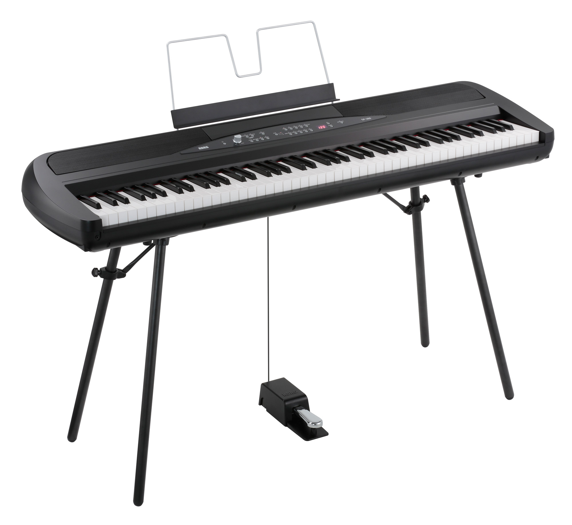 Korg SP 280 BK Portable Piano Schwarz
