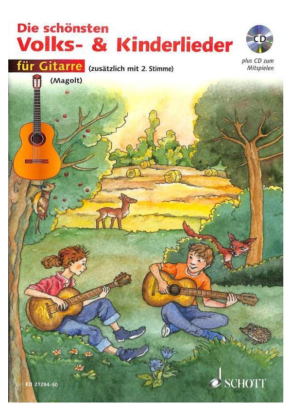 Gitarrelernen - Die schönsten Volks Kinderlieder für Gitarre CD - Onlineshop Musikhaus Kirstein