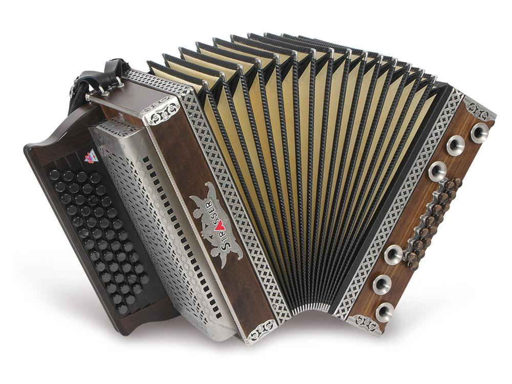 Akkordeons - Strasser 4|III Hoamat Harmonika G C F B, mit X Bass, Räuchereiche - Onlineshop Musikhaus Kirstein