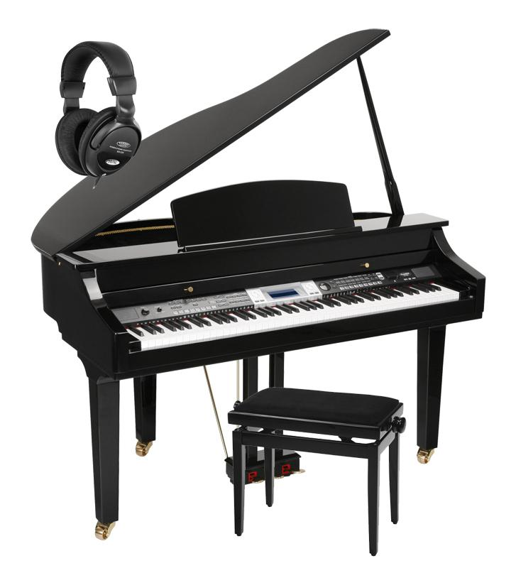 Classic cantabile gp 500 digital grand piano black high for Classic house piano