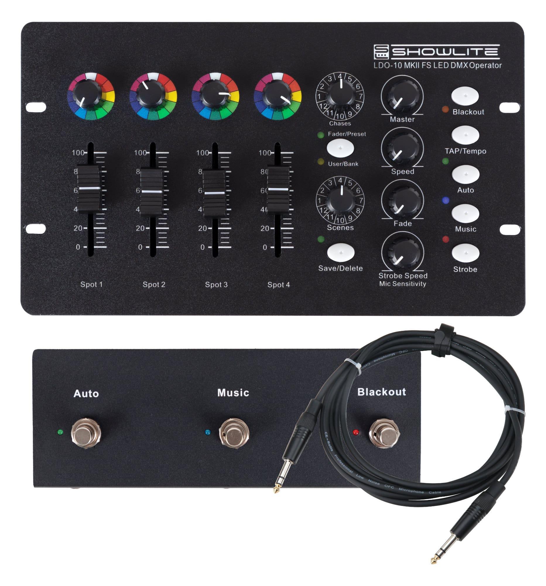Lichtsteuerung - Showlite LDO 10 MKII FS LED DMX Operator Footswitch Set - Onlineshop Musikhaus Kirstein