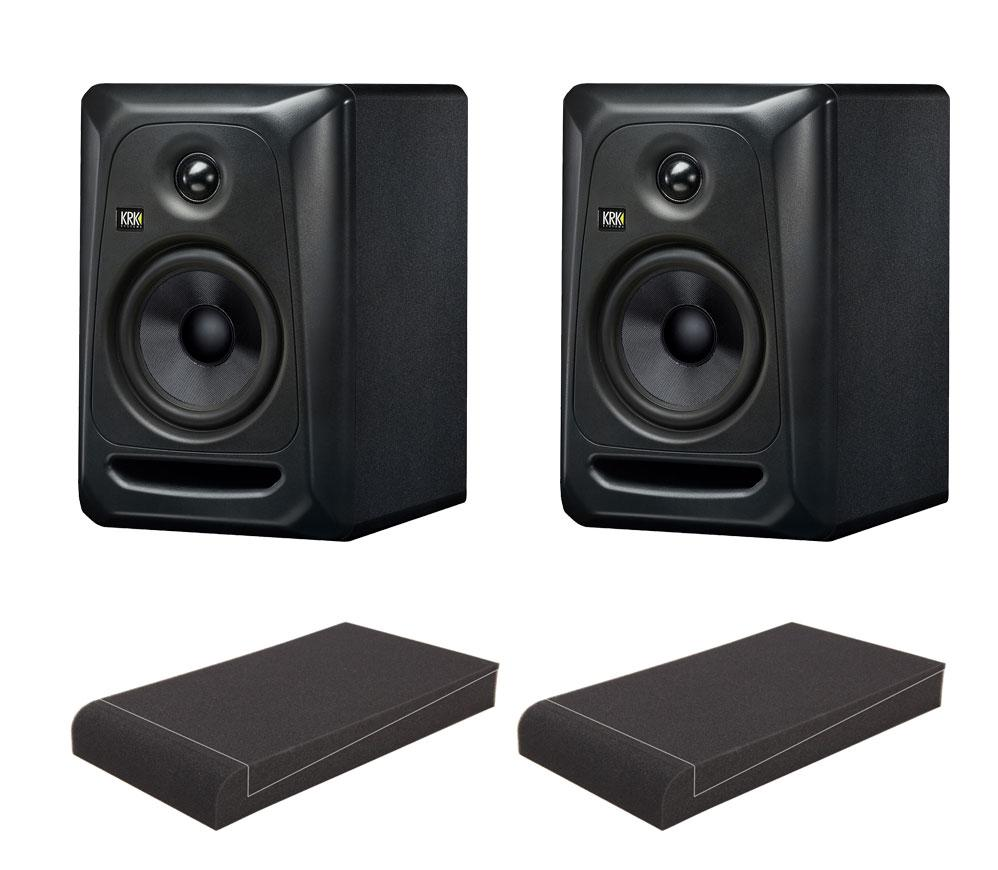 KRK ROKIT RP5 G3 Stealth Edition Studio Monitor SET mit 5' Absorberplatten