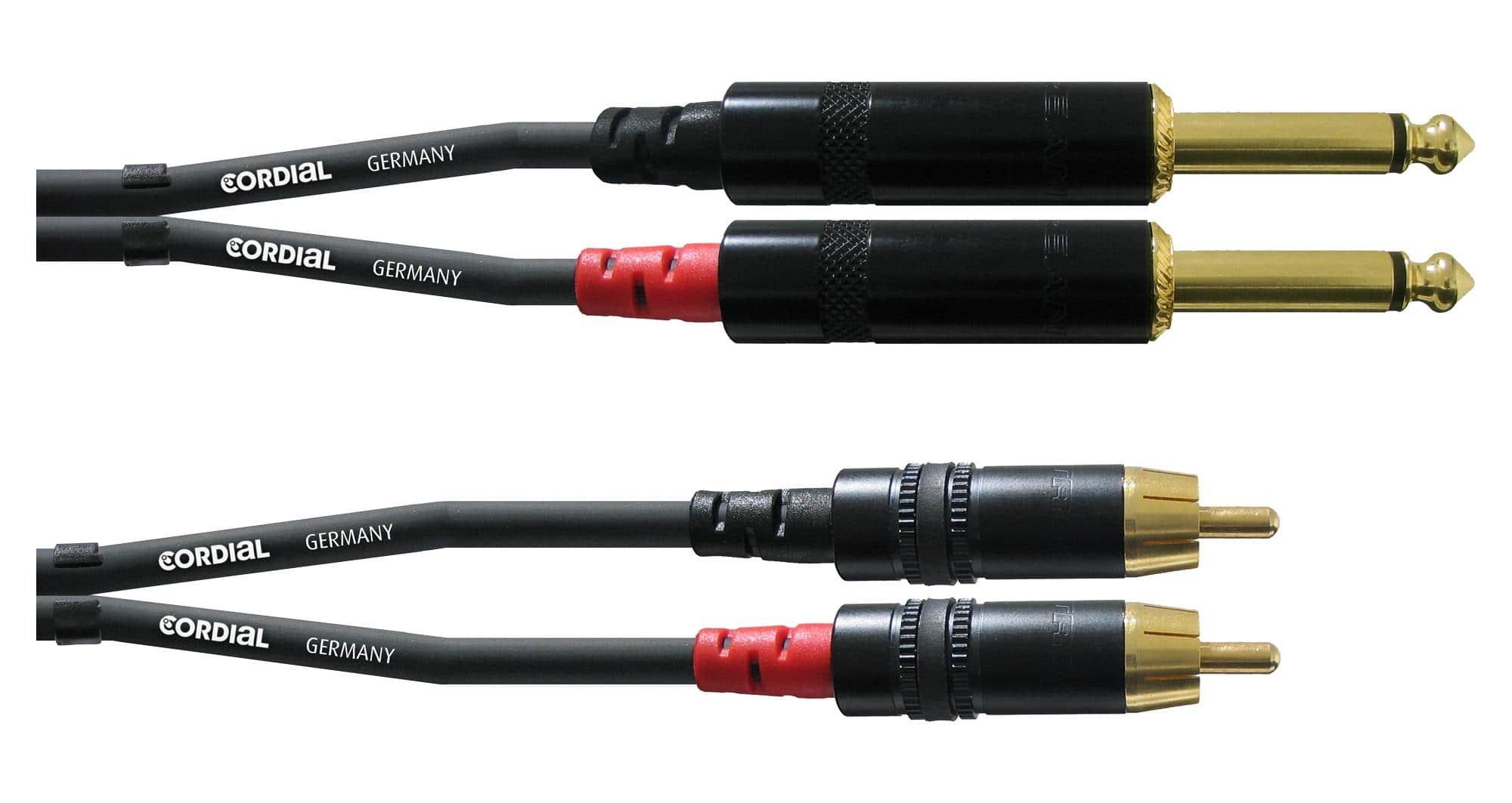 Kabelmulticores - Cordial CFU 3 PC Cinch Klinke Kabel 3m Paar - Onlineshop Musikhaus Kirstein