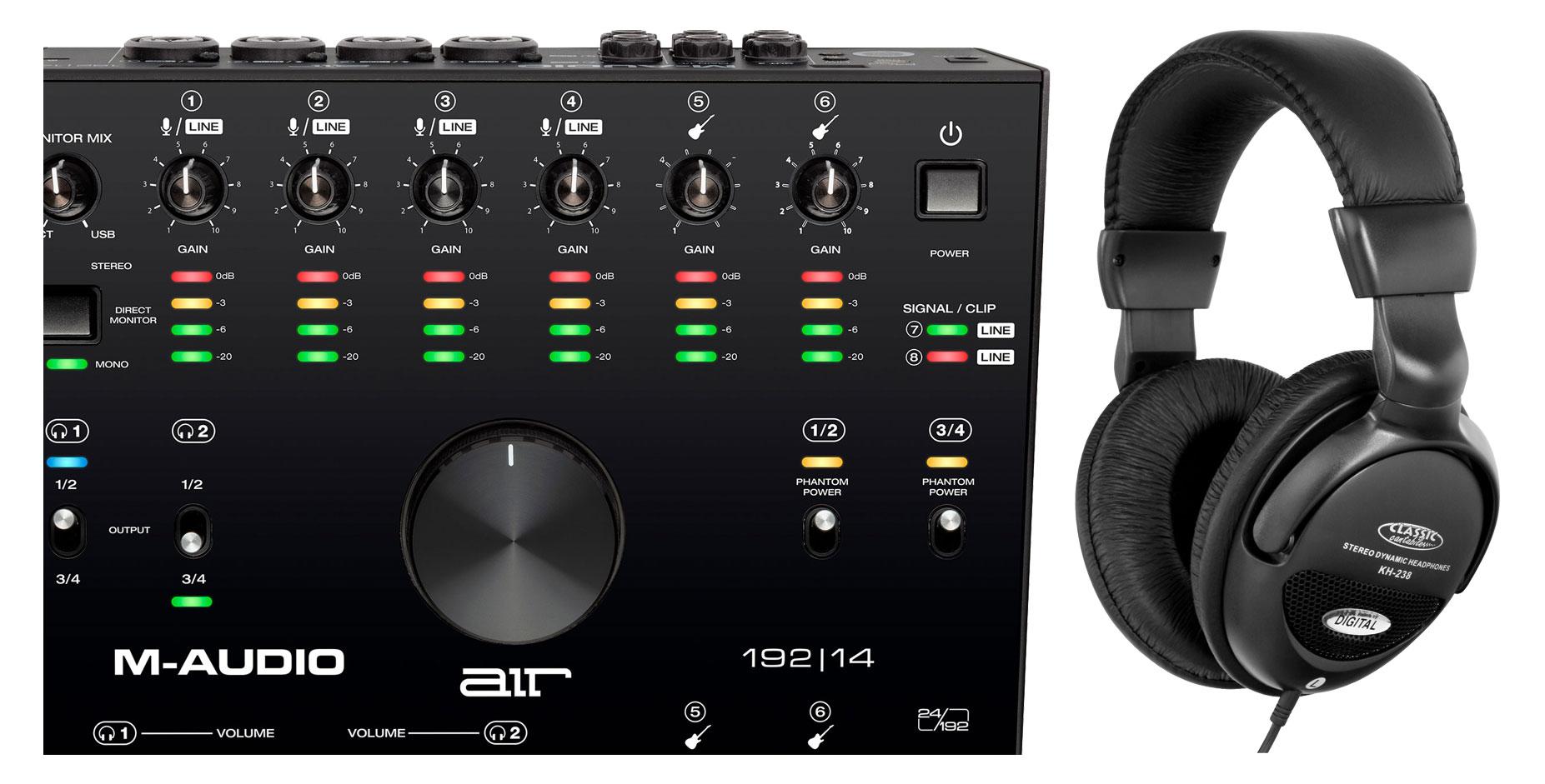 Pchardware - M Audio AIR 192|14 Interface Set - Onlineshop Musikhaus Kirstein