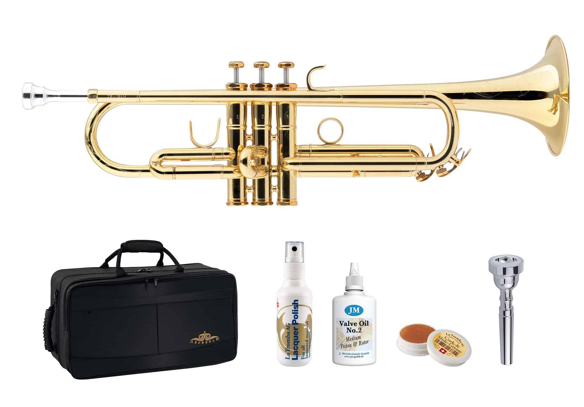 Trompeten - Lechgold TR 18LW Bb Trompete Lightweight lackiert Deluxe Set - Onlineshop Musikhaus Kirstein