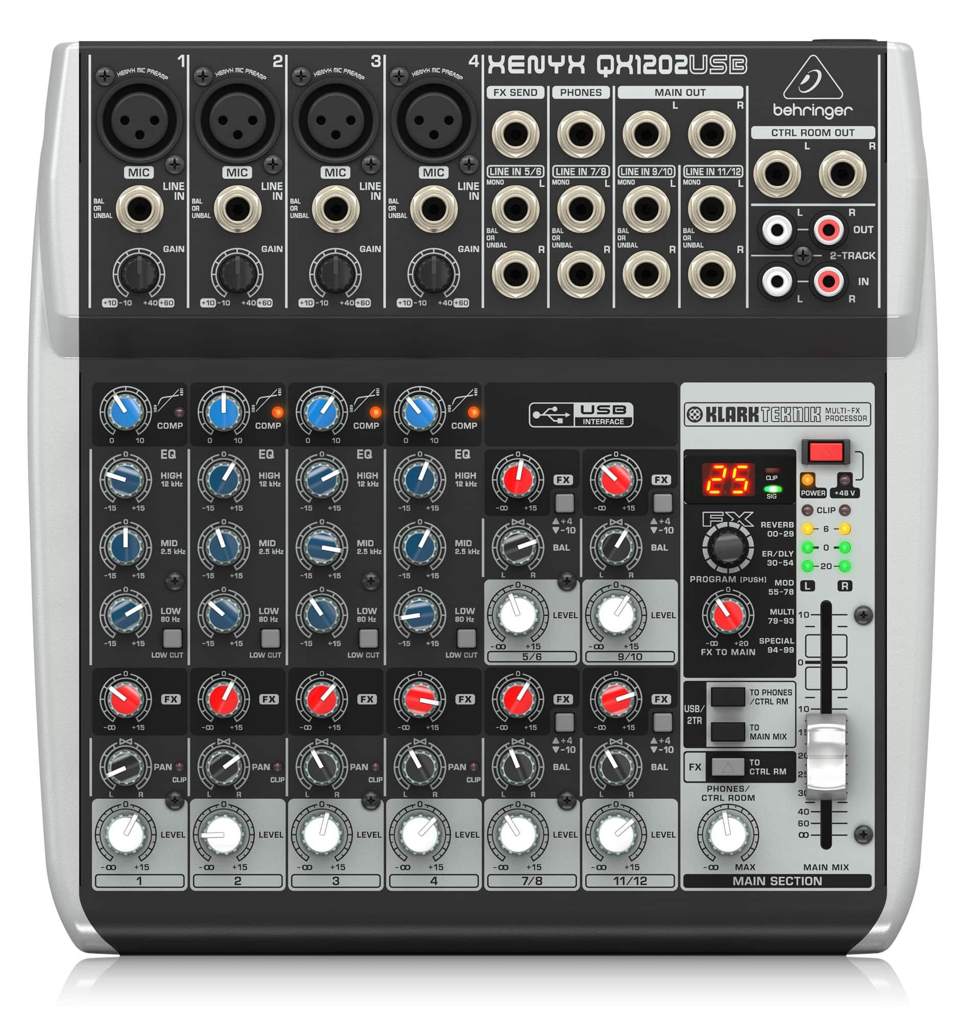 Mischpulte - Behringer XENYX QX1202 USB Mischpult - Onlineshop Musikhaus Kirstein