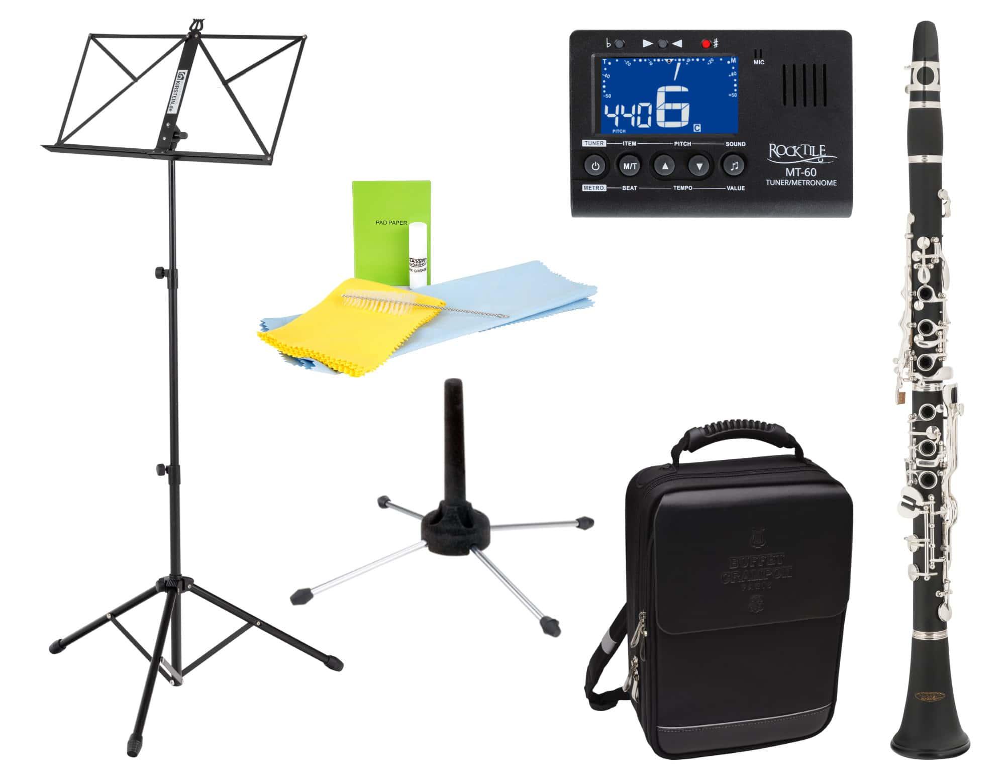 Klarinetten - Classic Cantabile CLK 20 B Klarinette Set inkl. Notenständer, Stimmgerät und Ständer - Onlineshop Musikhaus Kirstein