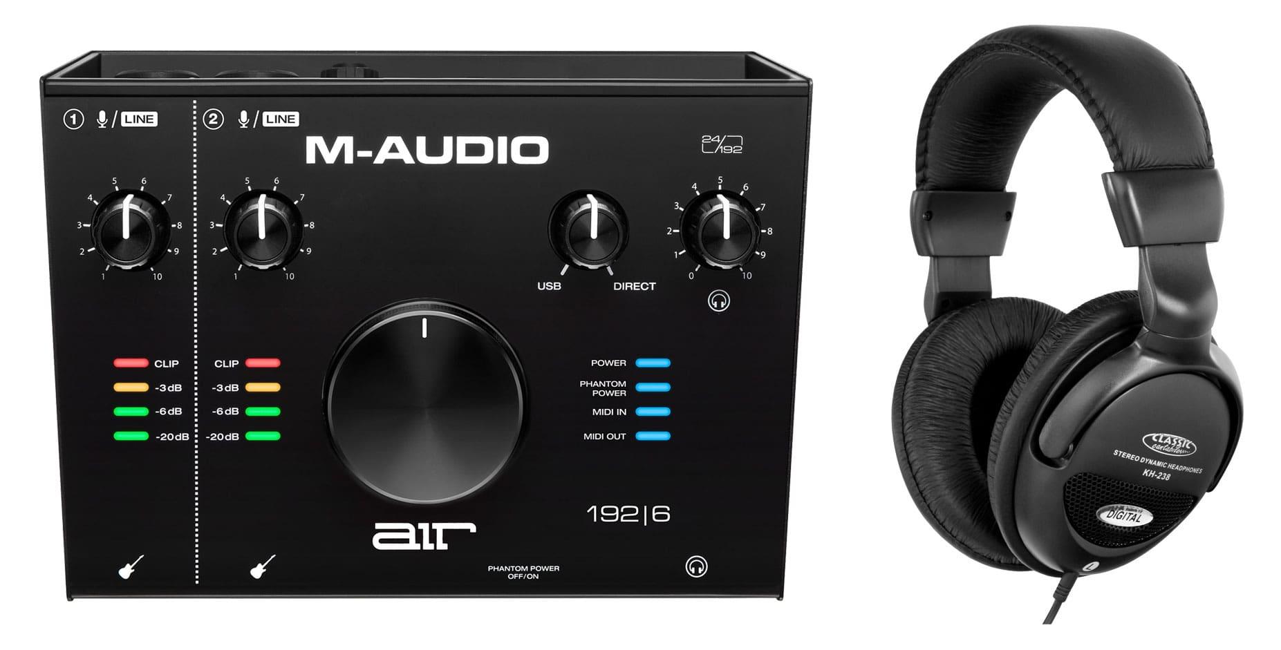 Pchardware - M Audio AIR 192 6 Interface Set - Onlineshop Musikhaus Kirstein