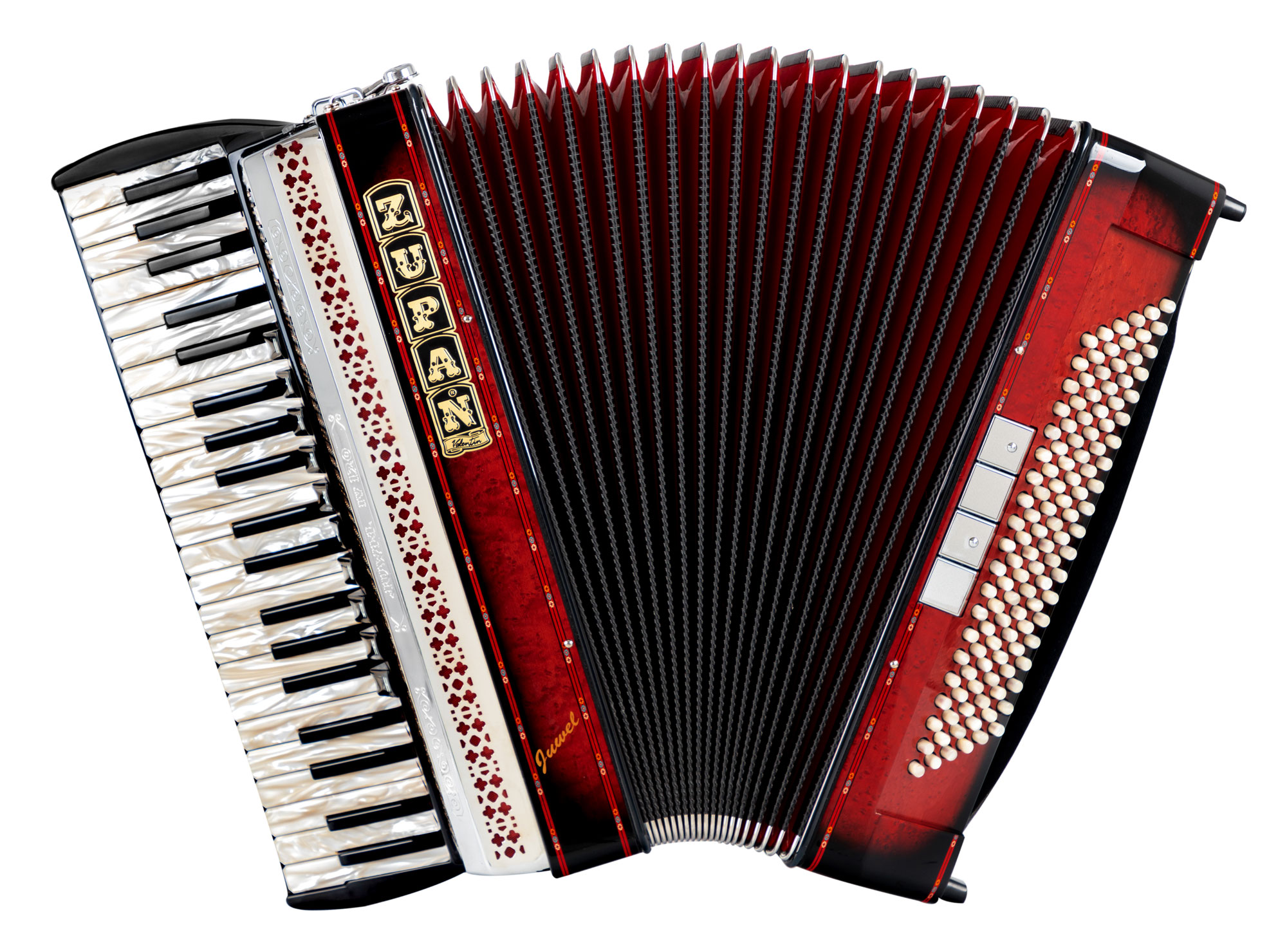 Akkordeons - Zupan Juwel IV 120 M Akkordeon Shadow Red Retoure (Zustand wie neu) - Onlineshop Musikhaus Kirstein