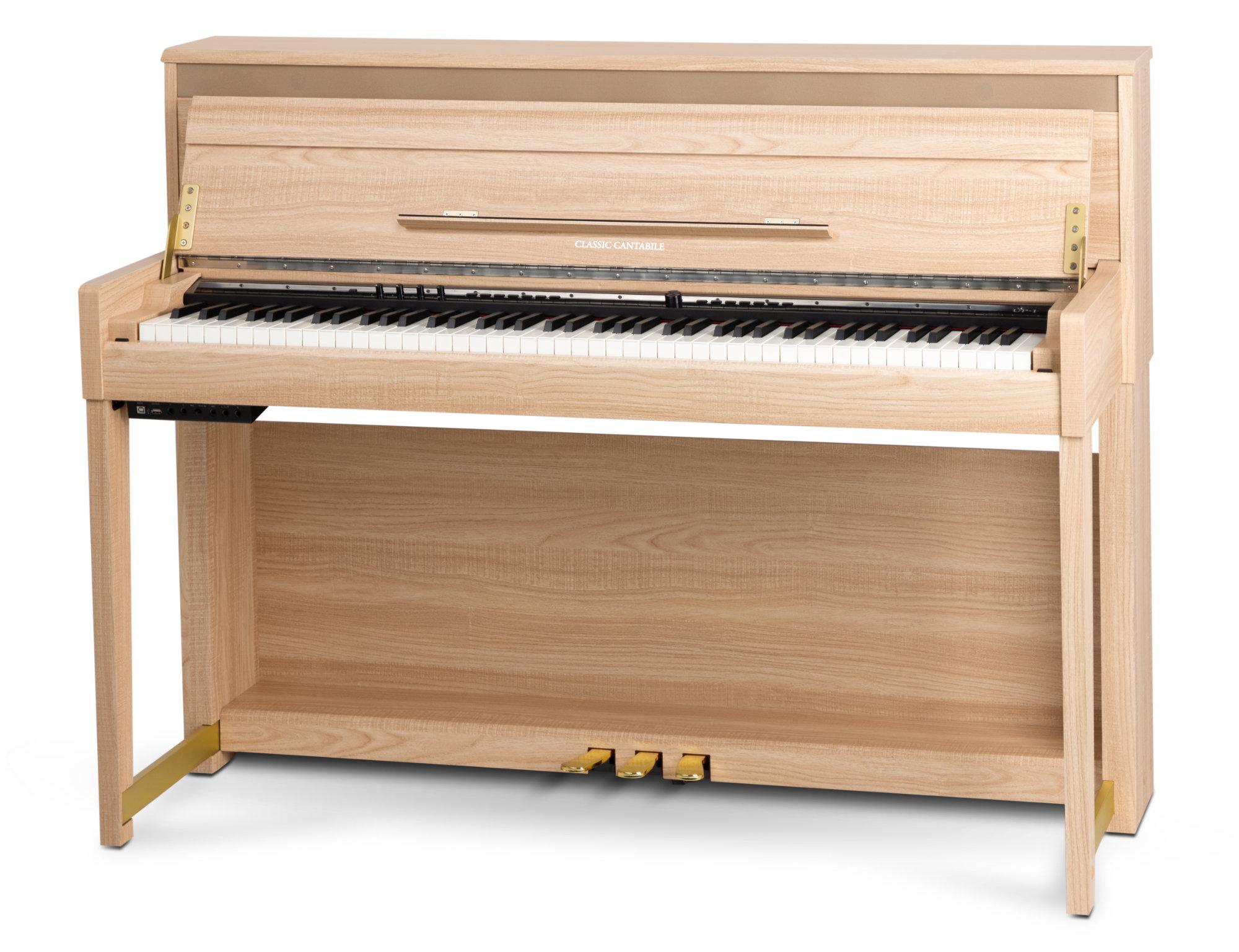 Digitalpianos - Classic Cantabile UP 1 LA Upright E Piano Eiche hell - Onlineshop Musikhaus Kirstein