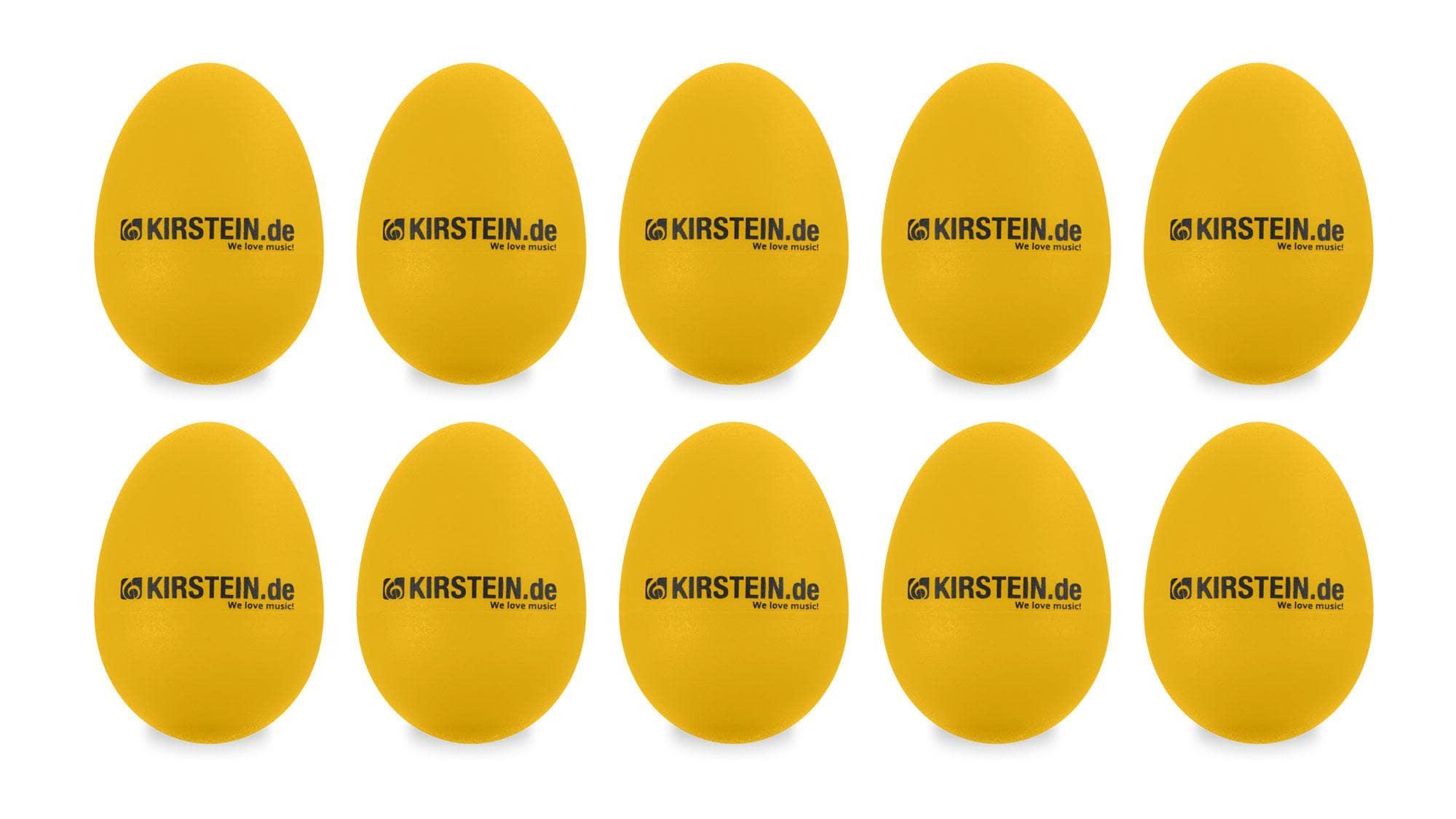 10x Kirstein ES 10Y Egg Shaker gelb Heavy Set