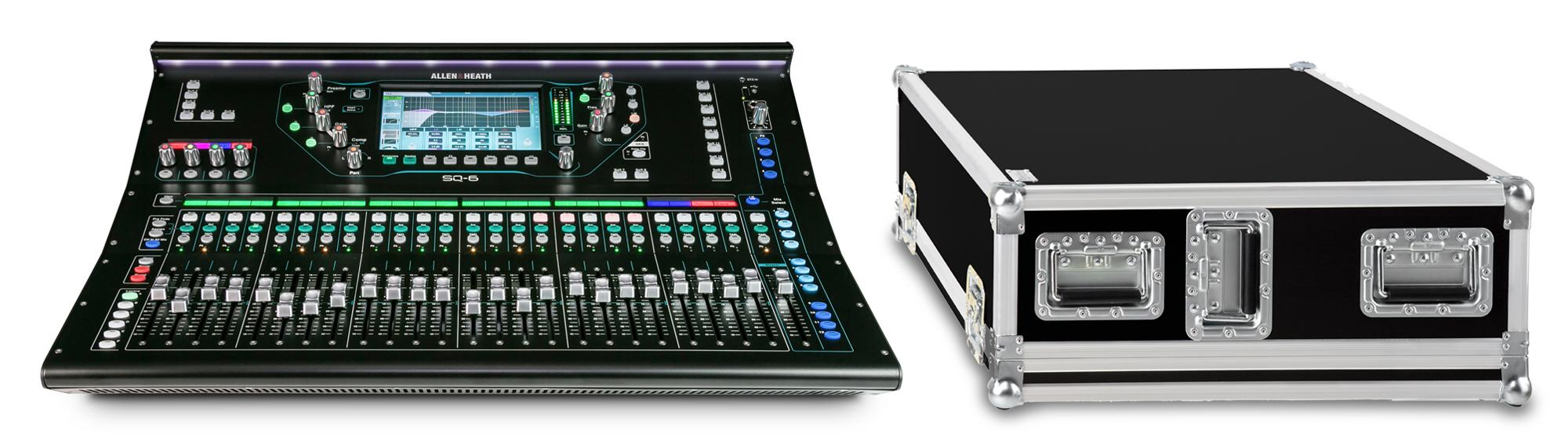 Allen Heath SQ 6 Digital Mischpult Set mit Case