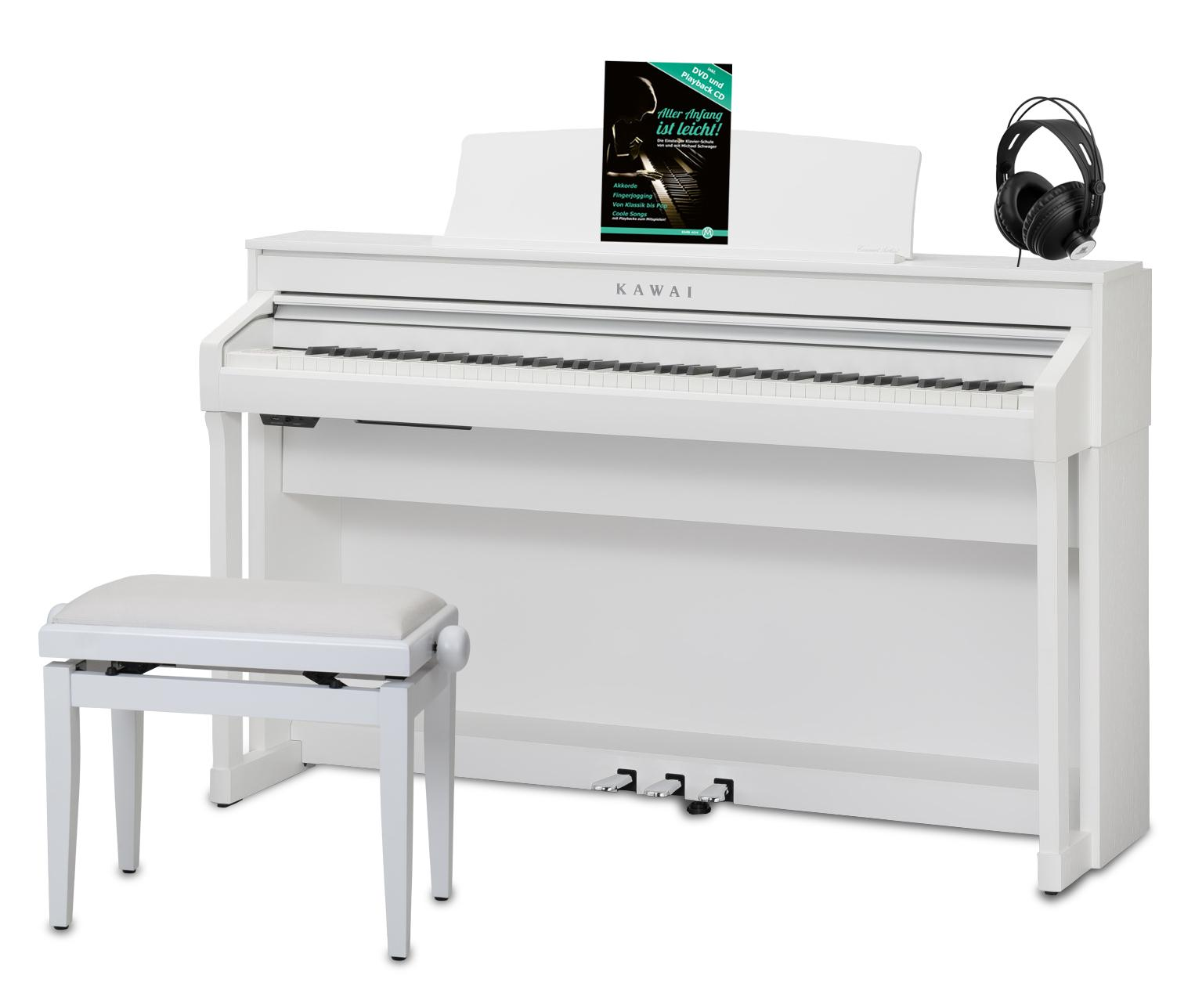 Kawai CA 58 W Digitalpiano Set, Weiß satiniert