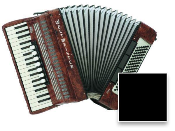Akkordeons - Weltmeister Opal III|96 Akkordeon Schwarz - Onlineshop Musikhaus Kirstein