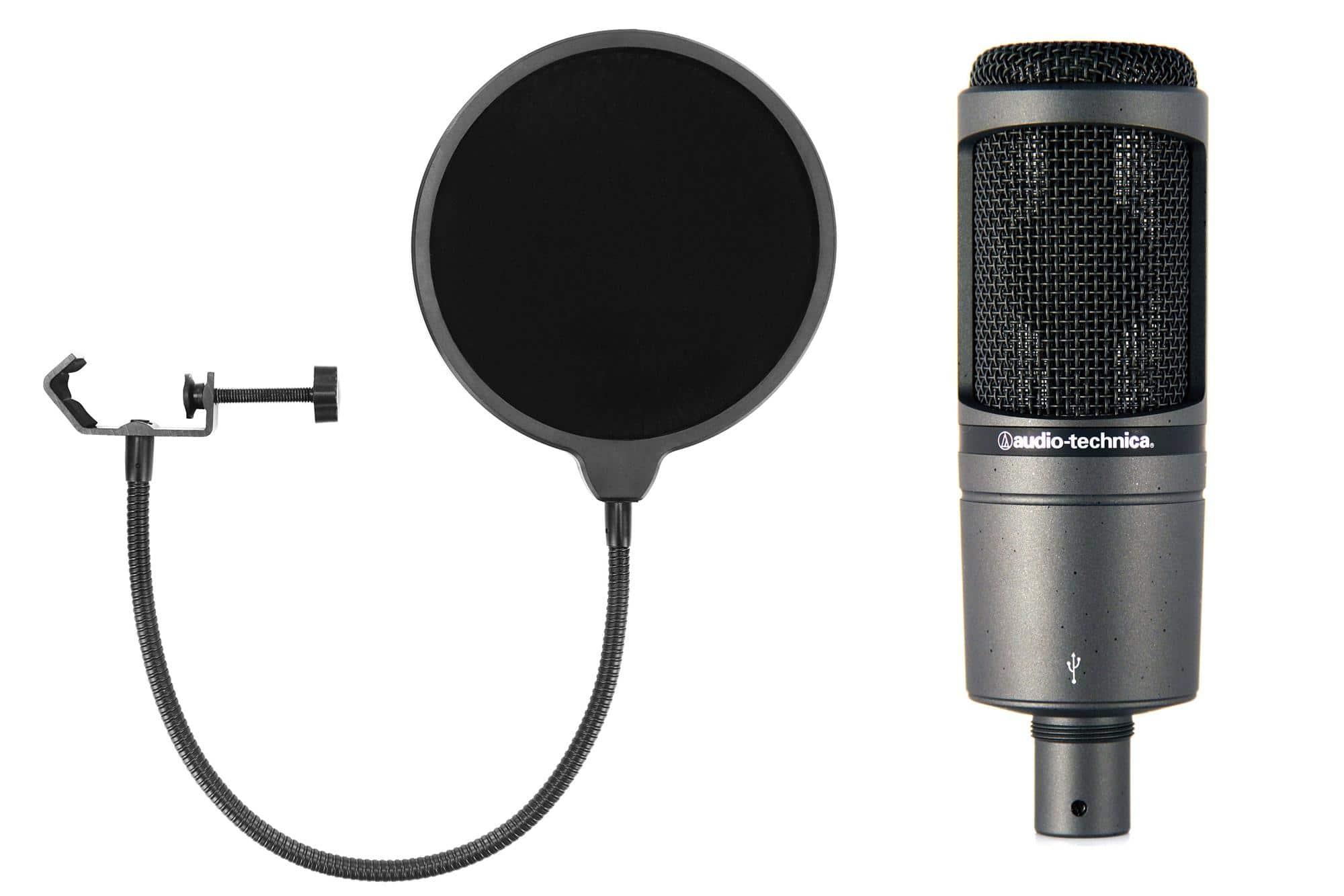Mikrofone - Audio Technica AT2020USB Kondensatormikrofon Set inkl. Popkiller - Onlineshop Musikhaus Kirstein