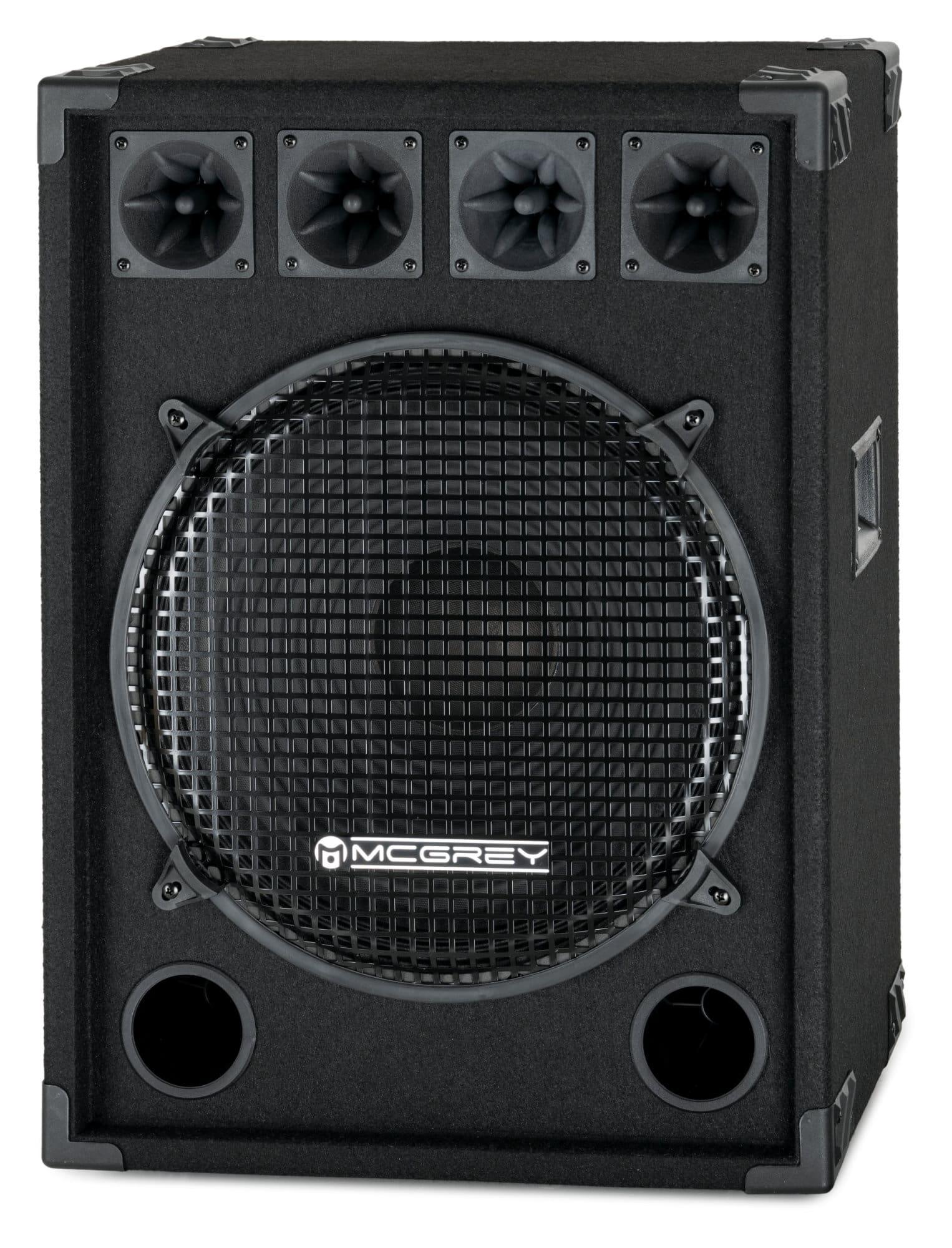 McGrey DJ 1522 Partykeller|DJ Box 800W Retoure (Zustand akzeptabel)