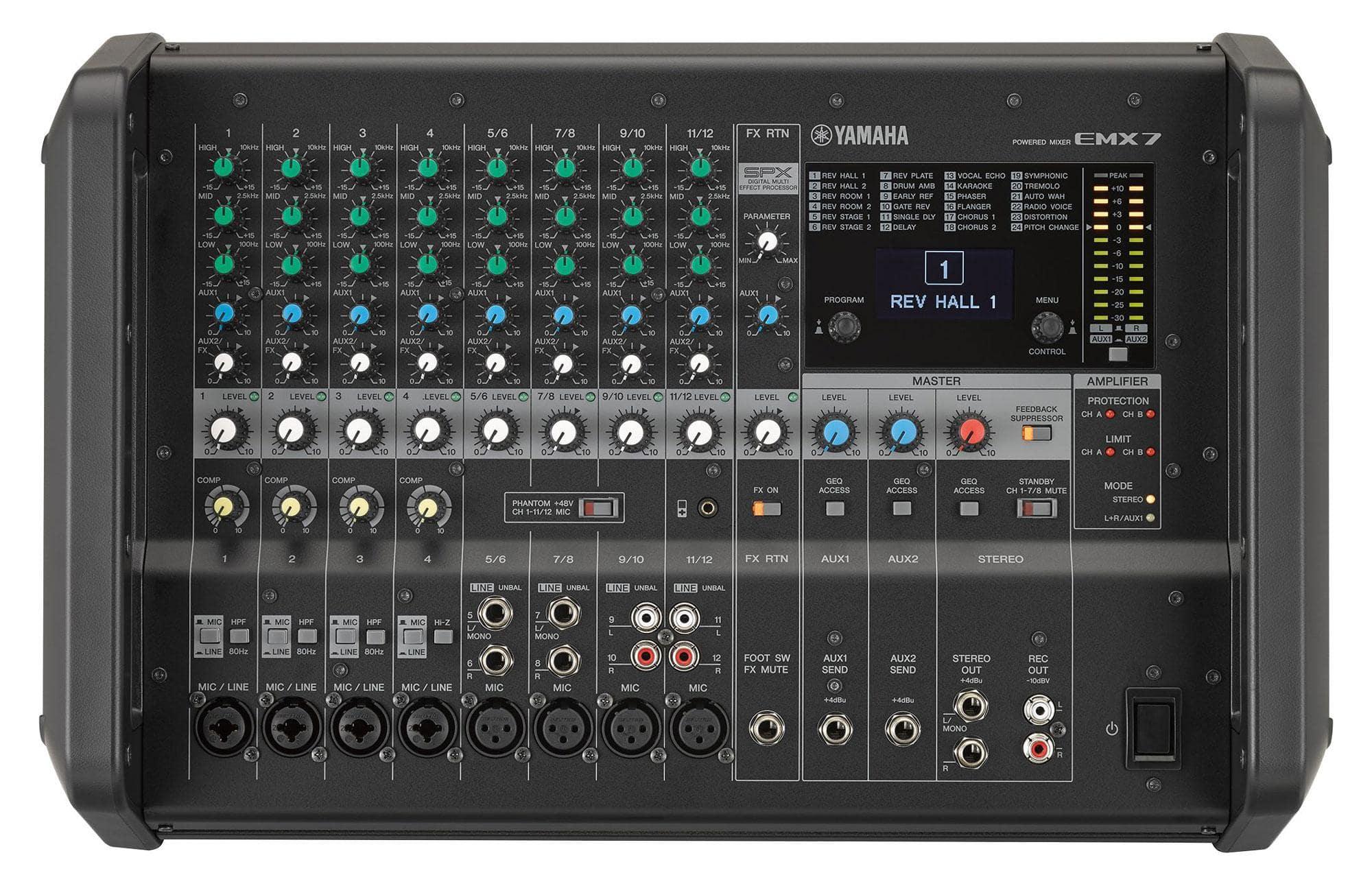 Mikrofone - Yamaha EMX 7 Powermixer Retoure (Zustand sehr gut) - Onlineshop Musikhaus Kirstein