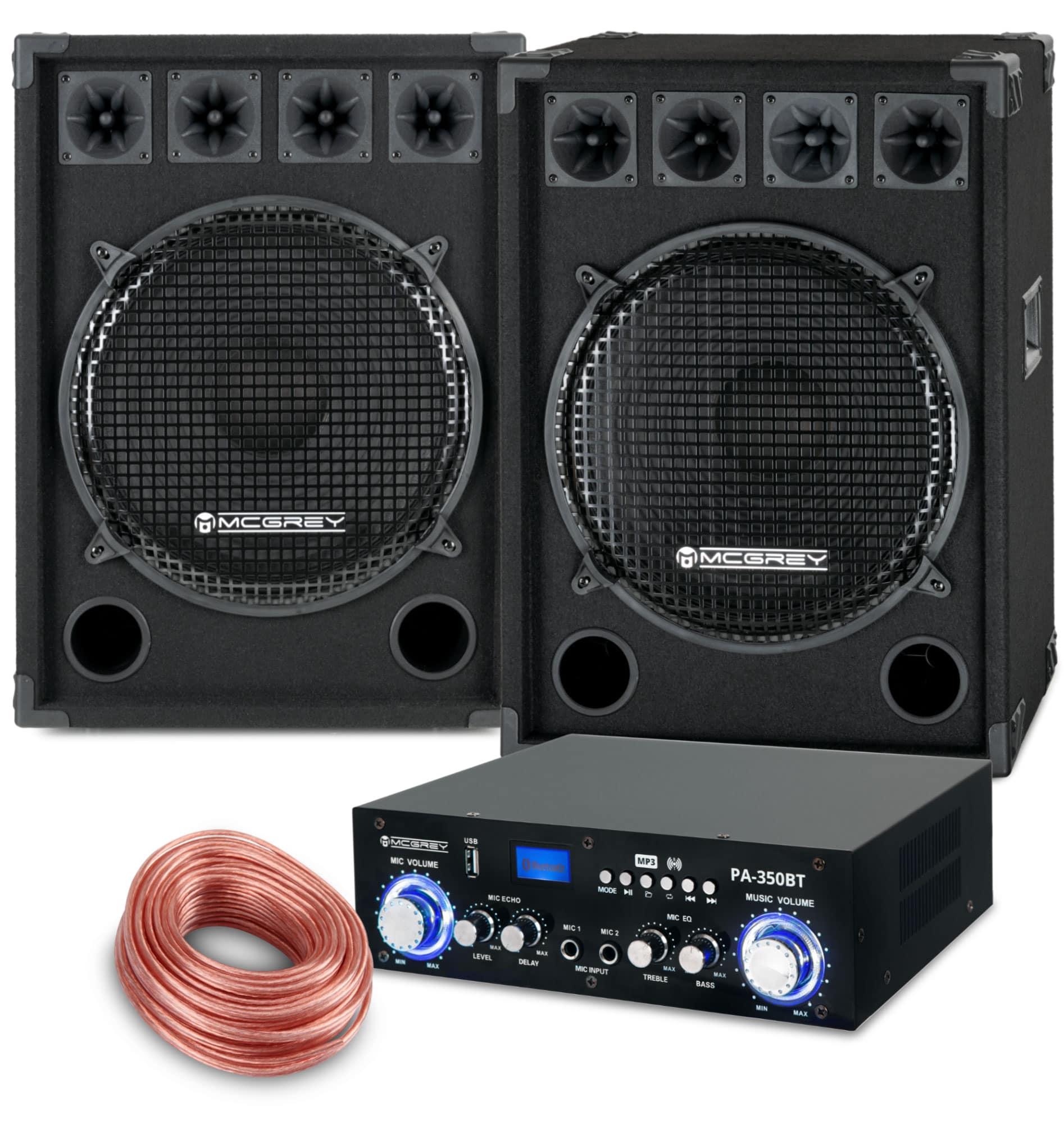 McGrey PA Komplettset PowerDJ 2500 1600W