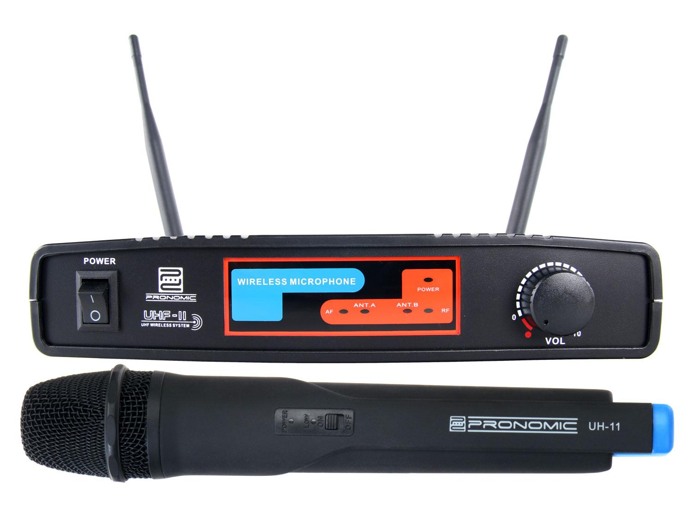 Pronomic UHF 11 Hand Funkmikroset K9 827,5 MHz Retoure (Zustand sehr gut)